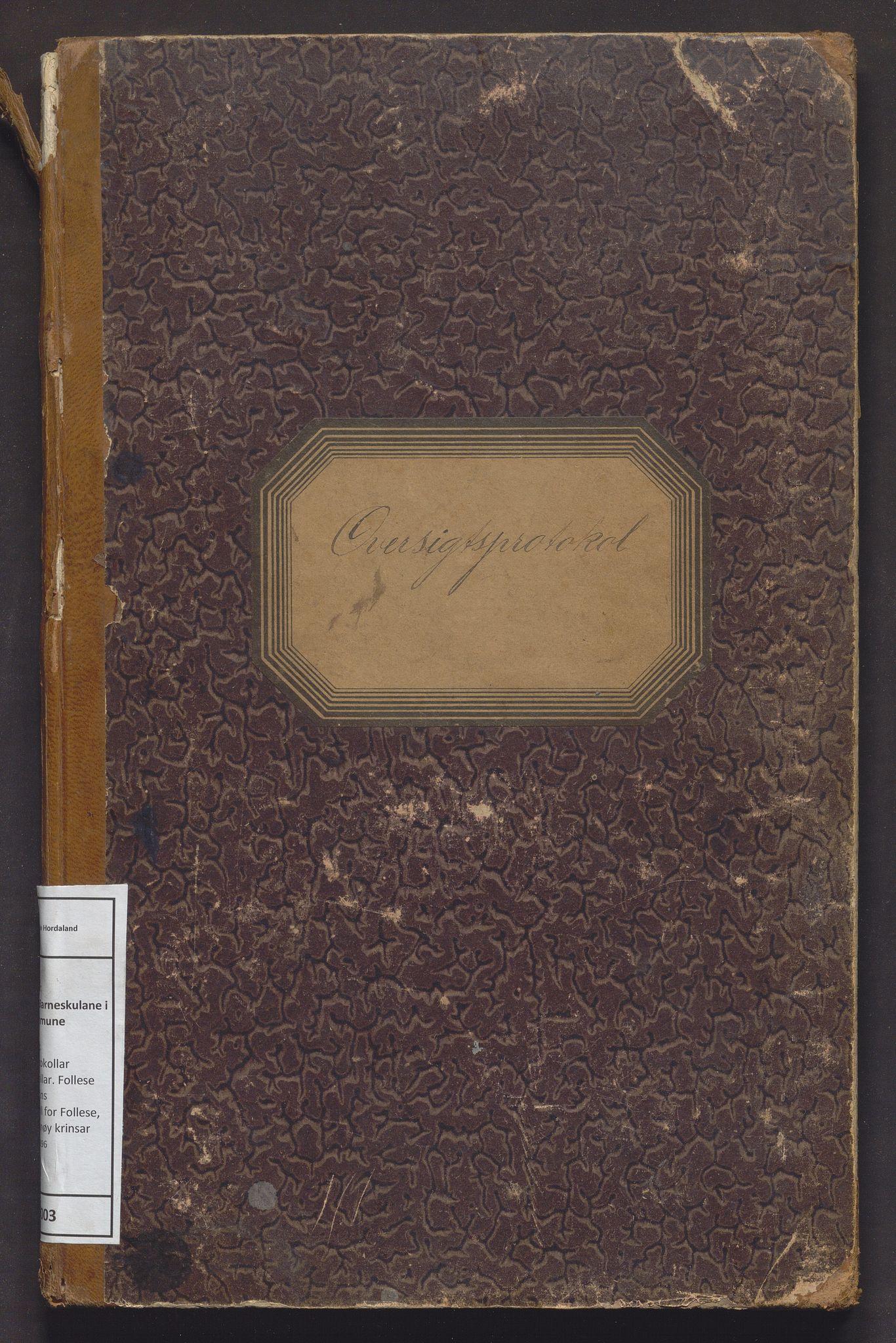 IKAH, Askøy kommune. Barneskulane, F/Fd/L0003: Skuleprotokoll for Follese, Haugland og Hanøy krinsar, 1892-1896