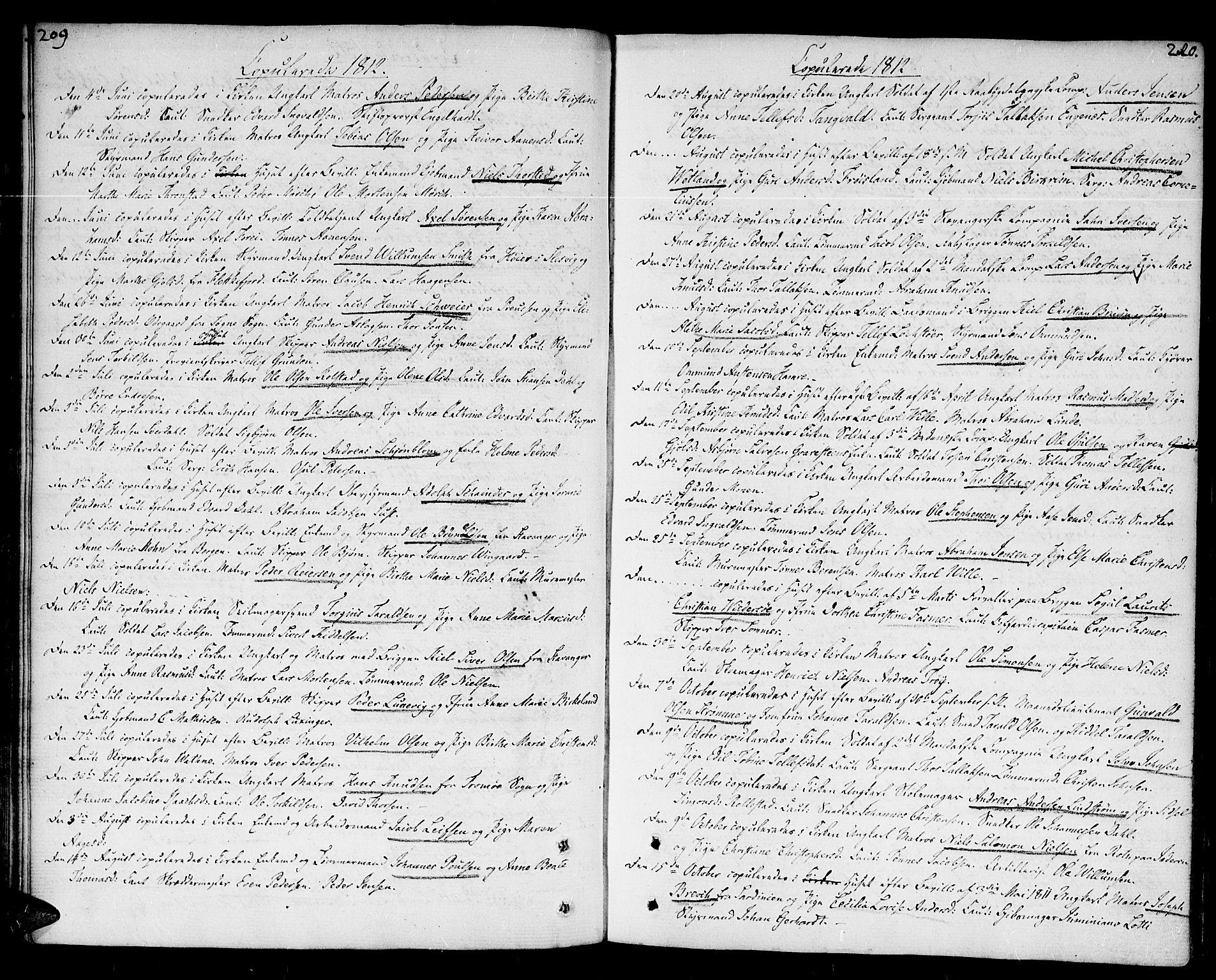 SAK, Kristiansand domprosti, F/Fa/L0005: Ministerialbok nr. A 5, 1776-1818, s. 209-210