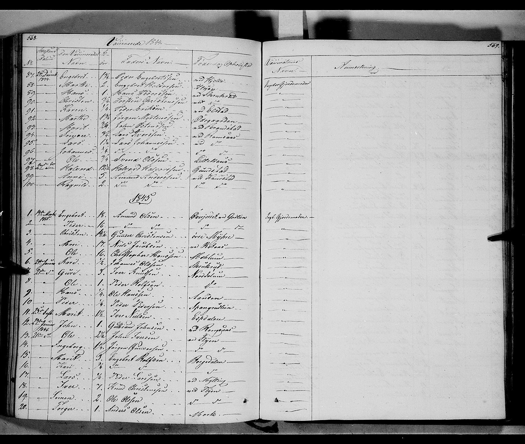 SAH, Ringebu prestekontor, Ministerialbok nr. 5, 1839-1848, s. 568-569