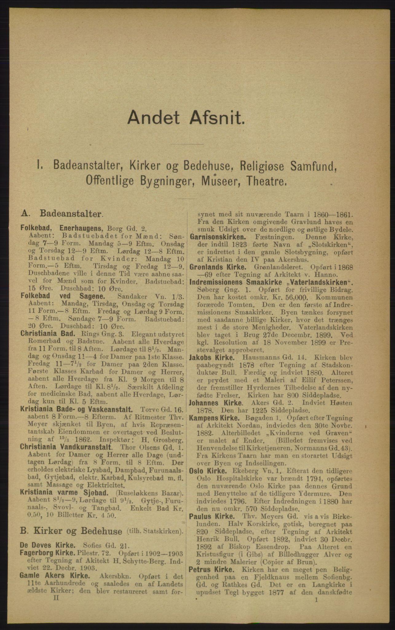 RA, Kristiania adressebok (publikasjon)*, 1906, s. upaginert