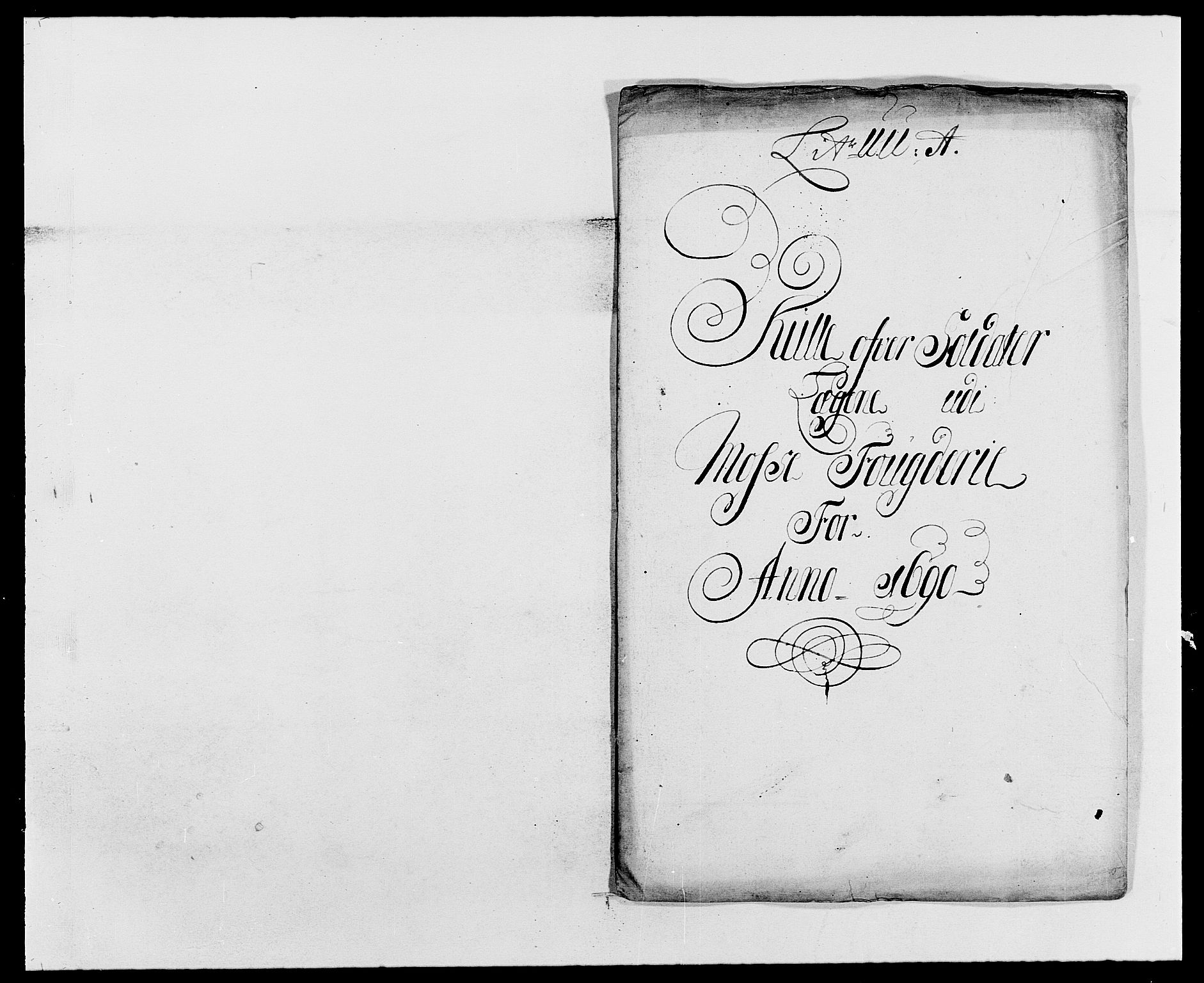 RA, Rentekammeret inntil 1814, Reviderte regnskaper, Fogderegnskap, R02/L0106: Fogderegnskap Moss og Verne kloster, 1688-1691, s. 399