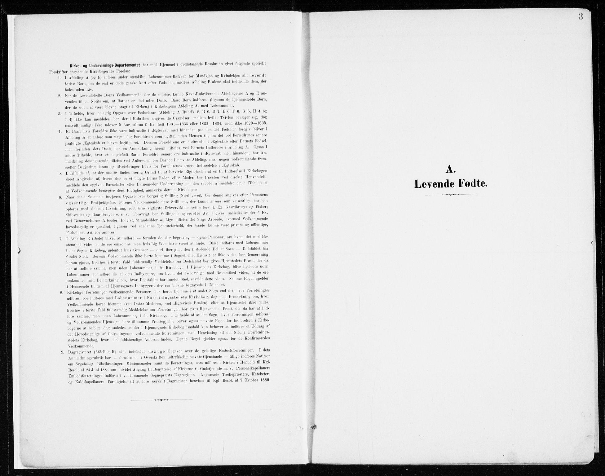 SAH, Nord-Odal prestekontor, Ministerialbok nr. 9, 1902-1926, s. 3