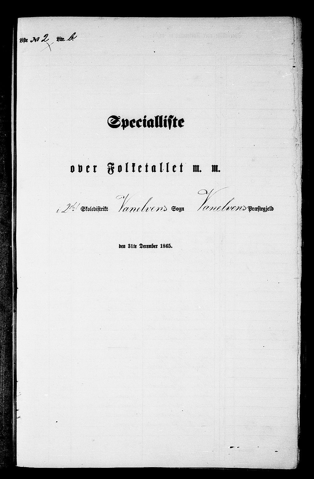 RA, Folketelling 1865 for 1511P Vanylven prestegjeld, 1865, s. 35