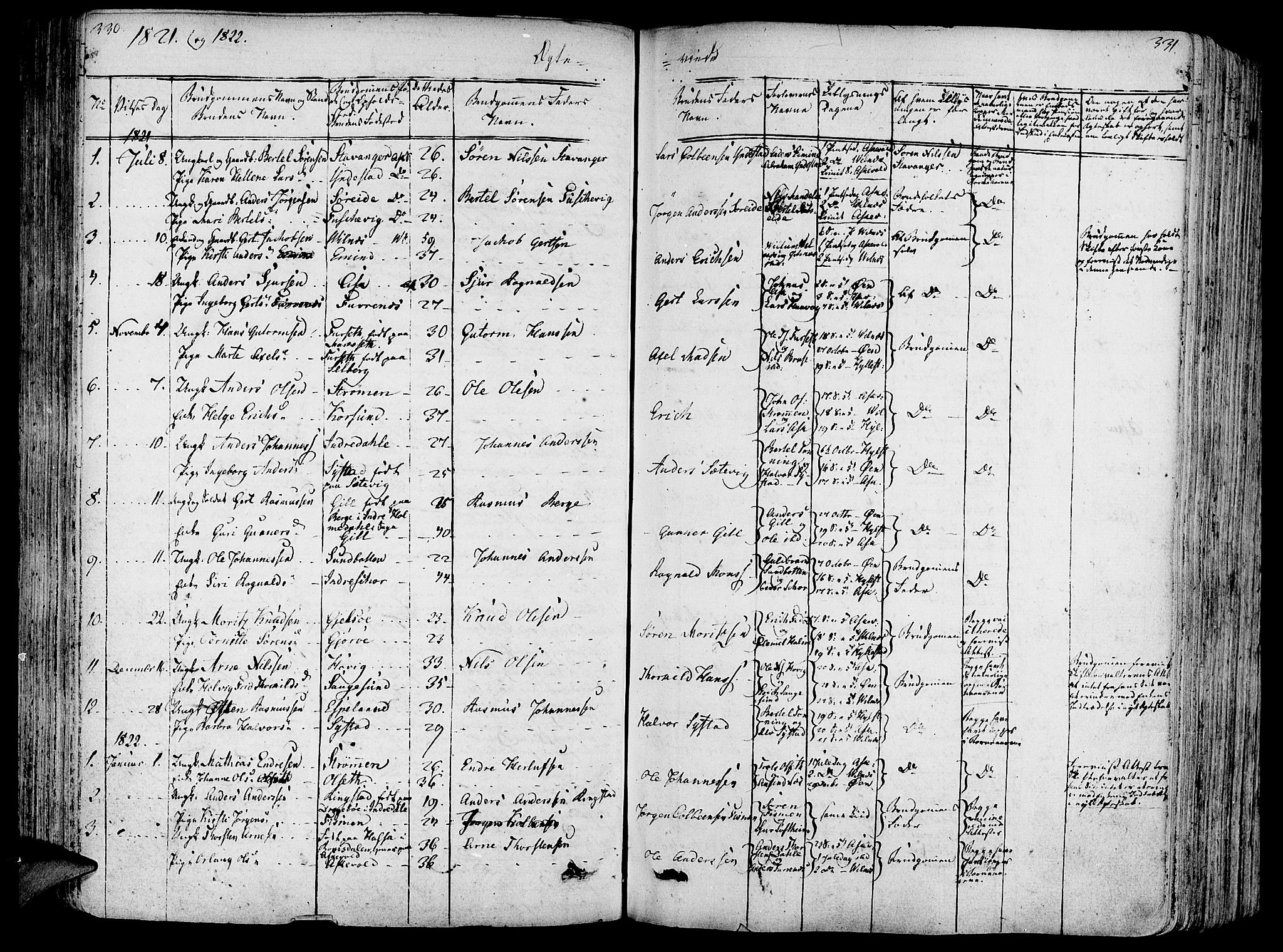SAB, Askvoll Sokneprestembete, Ministerialbok nr. A 10, 1821-1844, s. 330-331