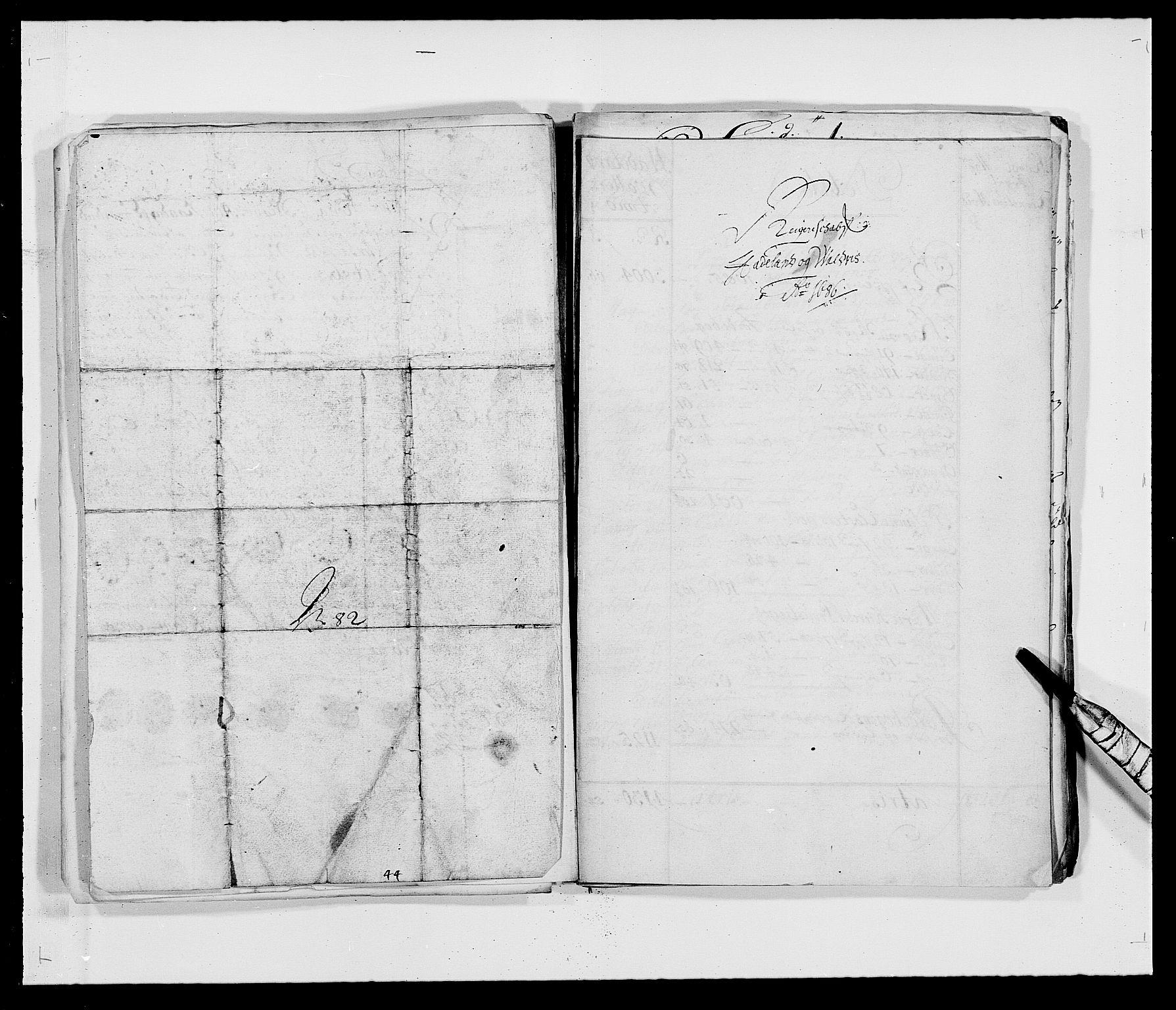 RA, Rentekammeret inntil 1814, Reviderte regnskaper, Fogderegnskap, R18/L1285: Fogderegnskap Hadeland, Toten og Valdres, 1686, s. 1