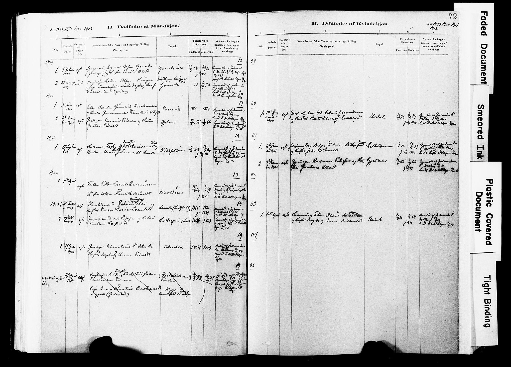 SAT, Ministerialprotokoller, klokkerbøker og fødselsregistre - Nord-Trøndelag, 744/L0420: Ministerialbok nr. 744A04, 1882-1904, s. 72