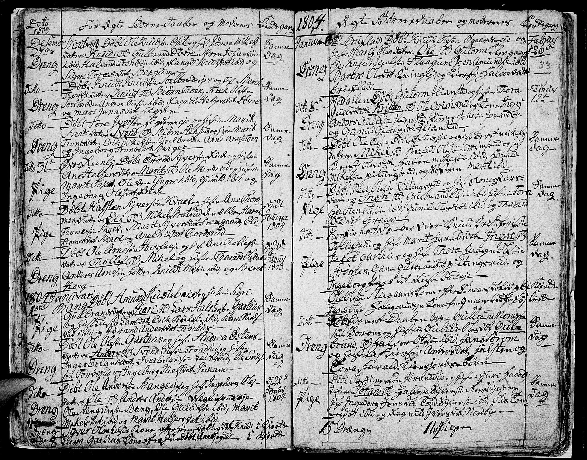 SAH, Aurdal prestekontor, Ministerialbok nr. 7, 1800-1808, s. 33