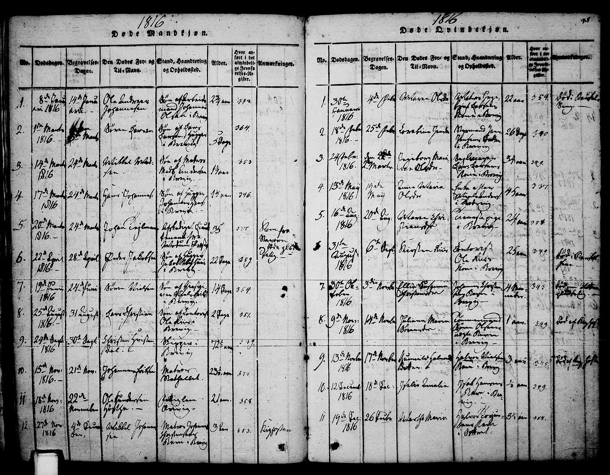 SAKO, Brevik kirkebøker, F/Fa/L0004: Ministerialbok nr. 4, 1814-1846, s. 98