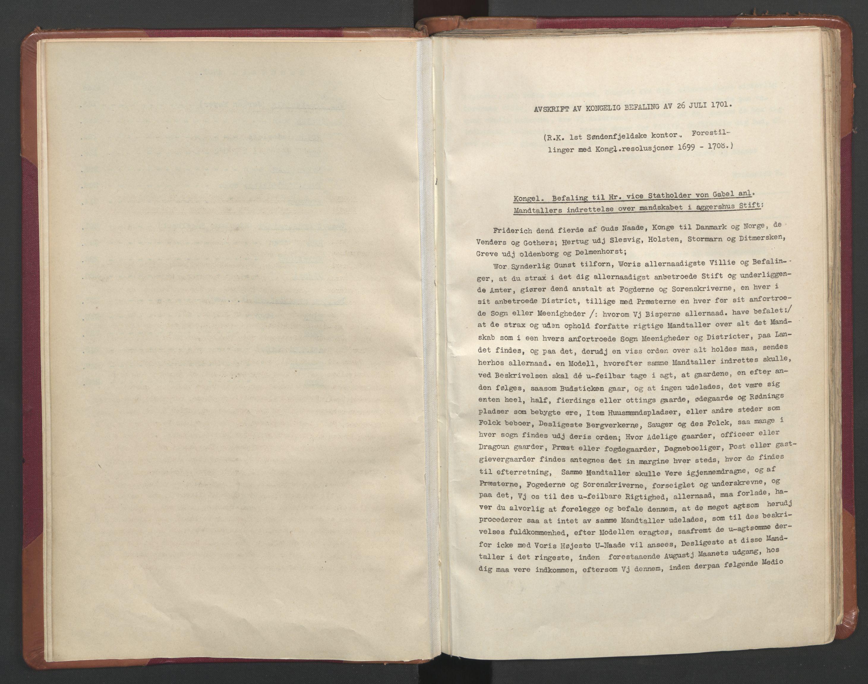 RA, Manntallet 1701, nr. 11: Nordmøre fogderi og Romsdal fogderi, 1701, s. upaginert