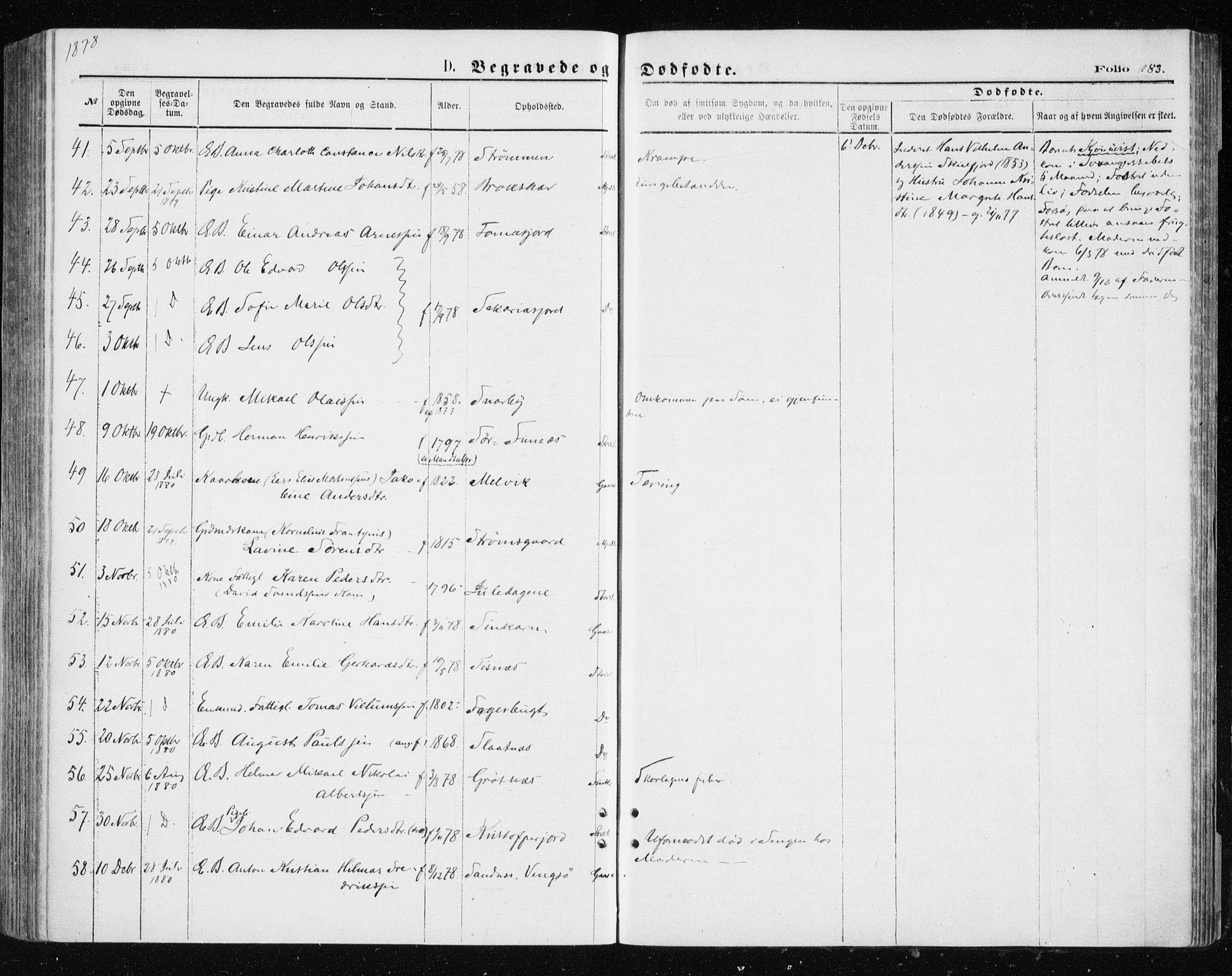 SATØ, Tromsøysund sokneprestkontor, G/Ga/L0003kirke: Ministerialbok nr. 3, 1875-1880, s. 183