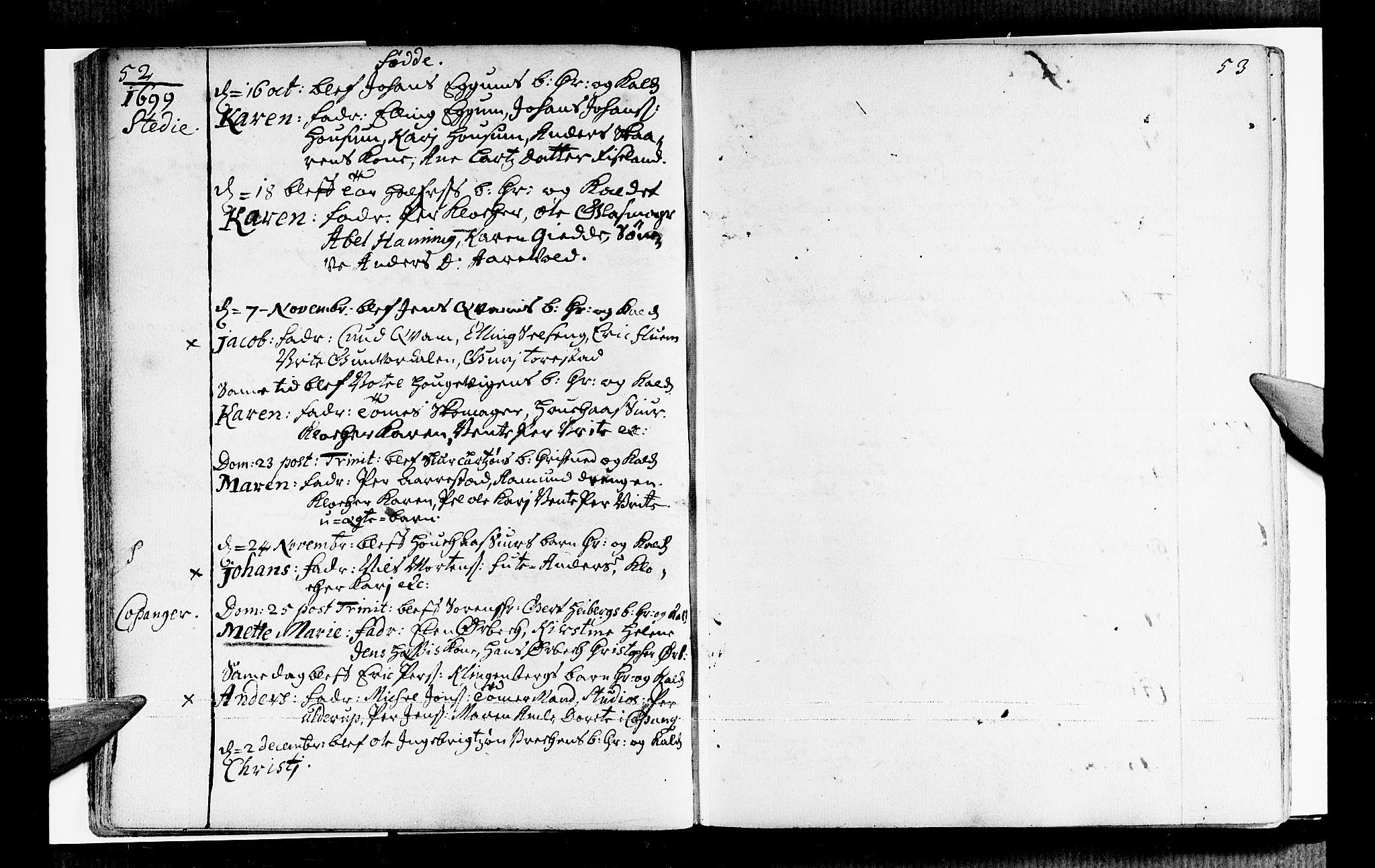 SAB, Sogndal sokneprestembete, H/Haa/Haaa/L0001: Ministerialbok nr. A 1, 1689-1713, s. 52-53