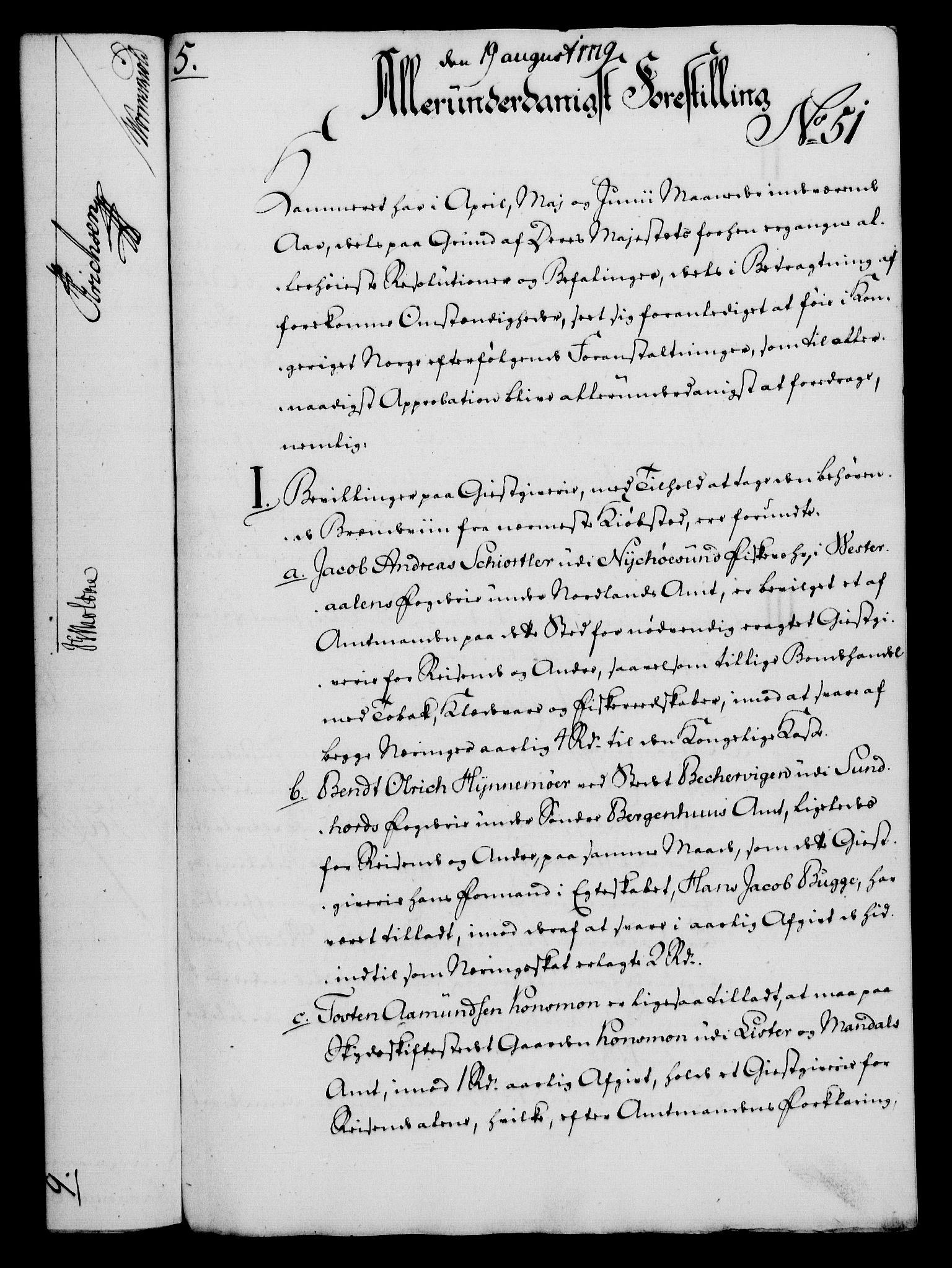 RA, Rentekammeret, Kammerkanselliet, G/Gf/Gfa/L0061: Norsk relasjons- og resolusjonsprotokoll (merket RK 52.61), 1779, s. 368