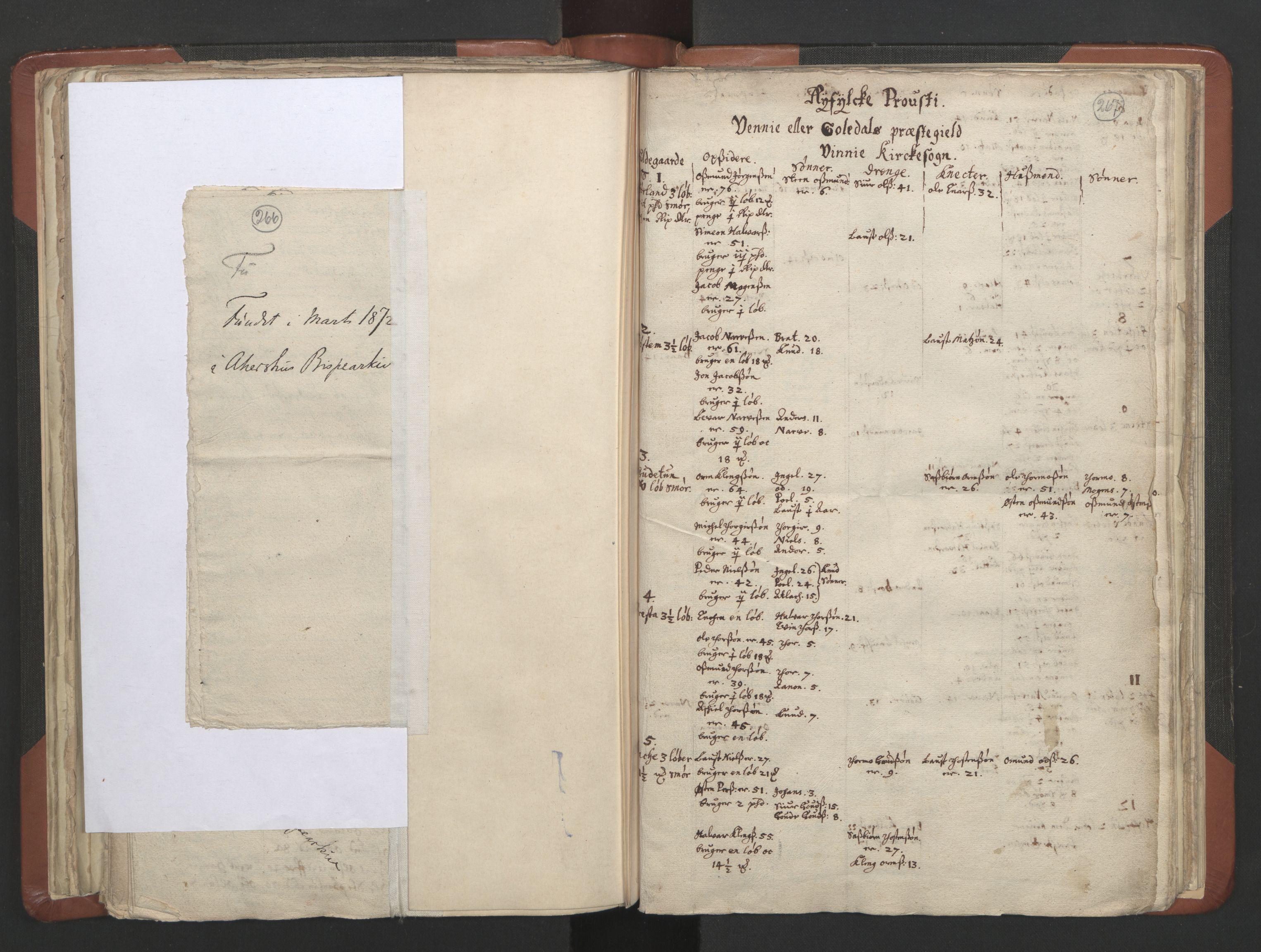 RA, Sogneprestenes manntall 1664-1666, nr. 19: Ryfylke prosti, 1664-1666, s. 266-267