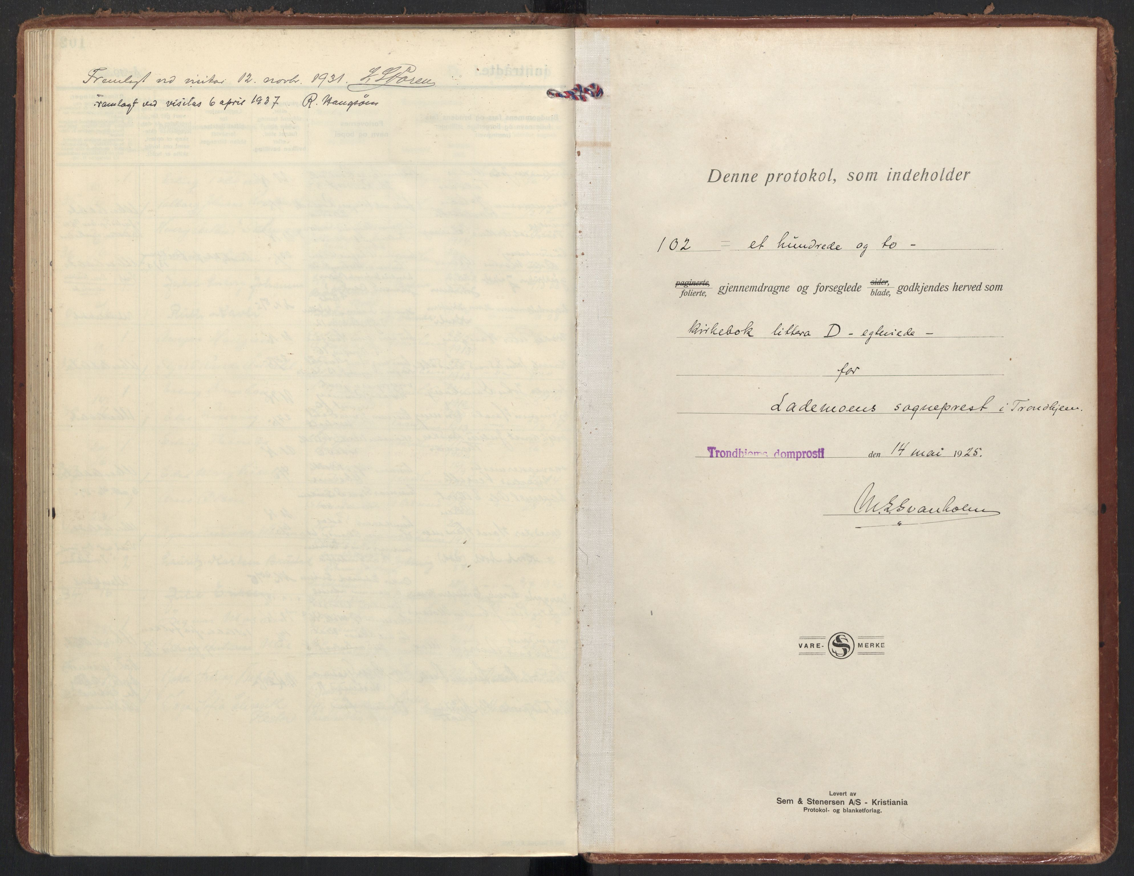 SAT, Ministerialprotokoller, klokkerbøker og fødselsregistre - Sør-Trøndelag, 605/L0249: Ministerialbok nr. 605A11, 1925-1936