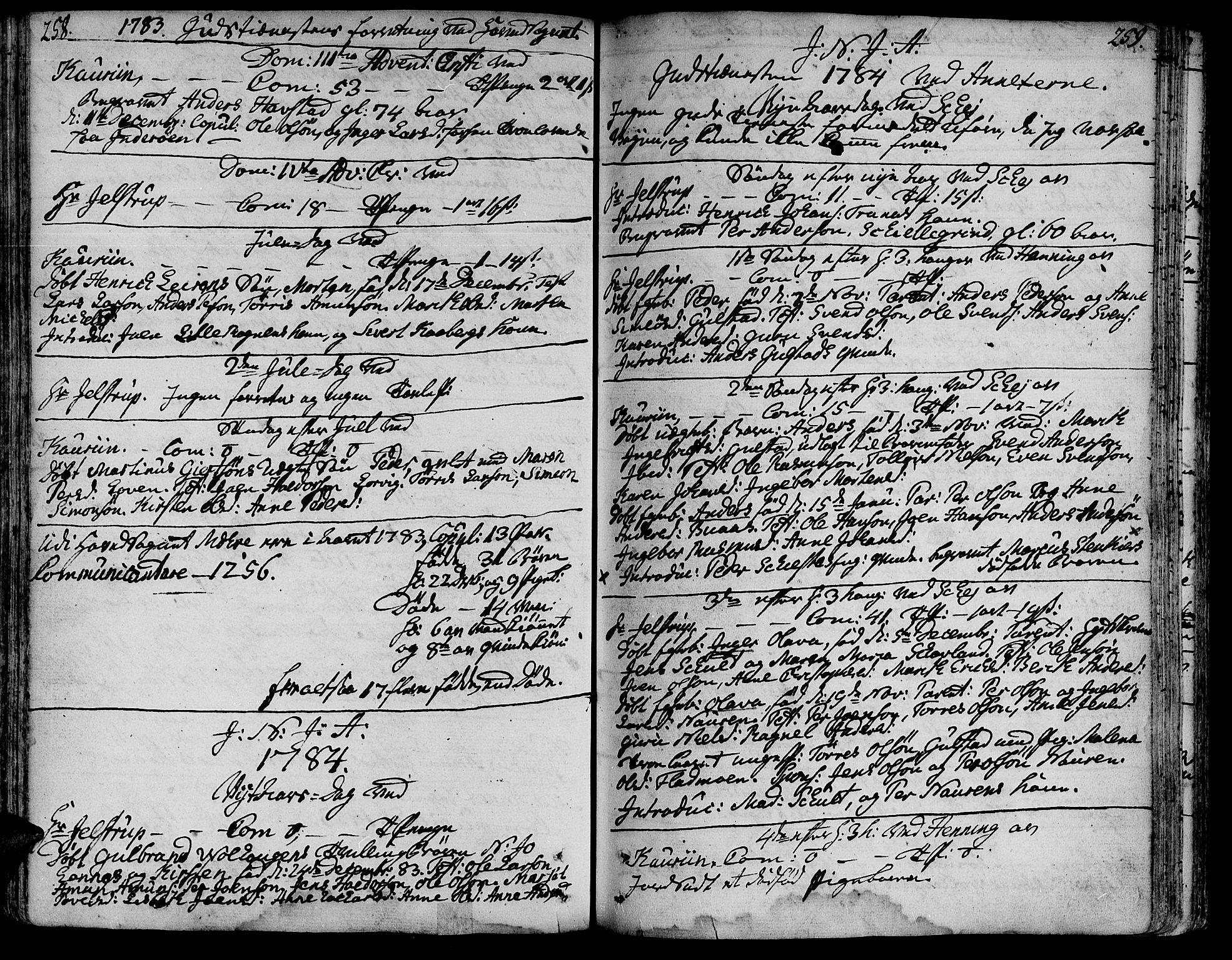 SAT, Ministerialprotokoller, klokkerbøker og fødselsregistre - Nord-Trøndelag, 735/L0331: Ministerialbok nr. 735A02, 1762-1794, s. 258-259