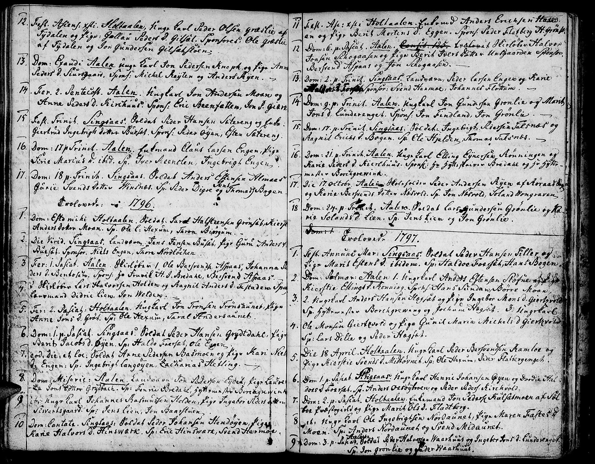 SAT, Ministerialprotokoller, klokkerbøker og fødselsregistre - Sør-Trøndelag, 685/L0952: Ministerialbok nr. 685A01, 1745-1804, s. 123