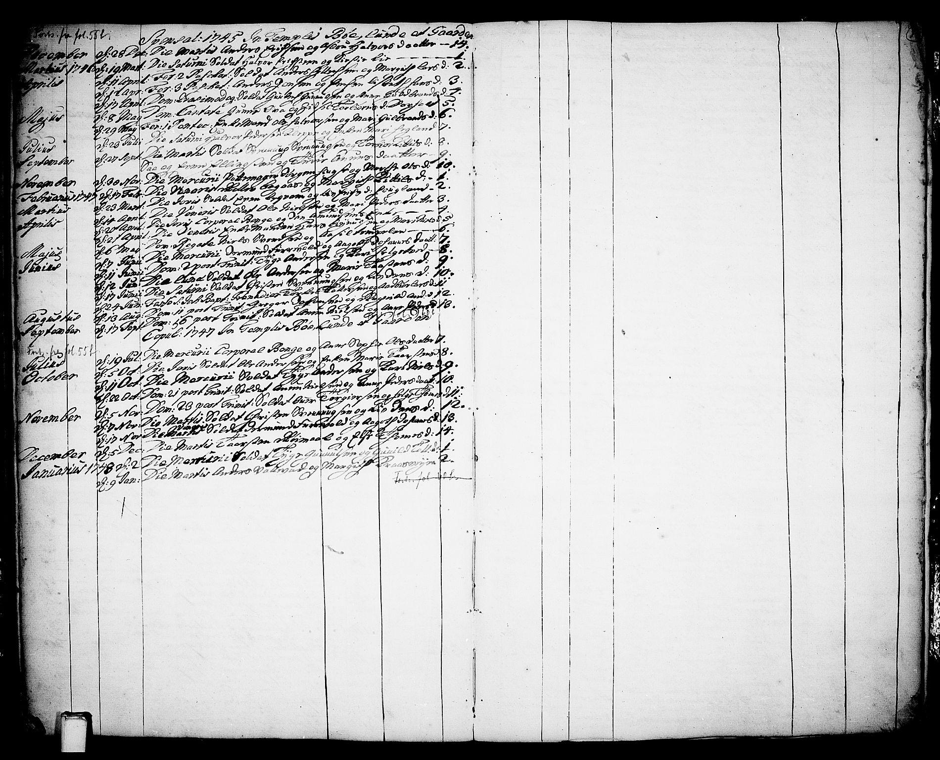 SAKO, Bø kirkebøker, F/Fa/L0003: Ministerialbok nr. 3, 1733-1748, s. 59