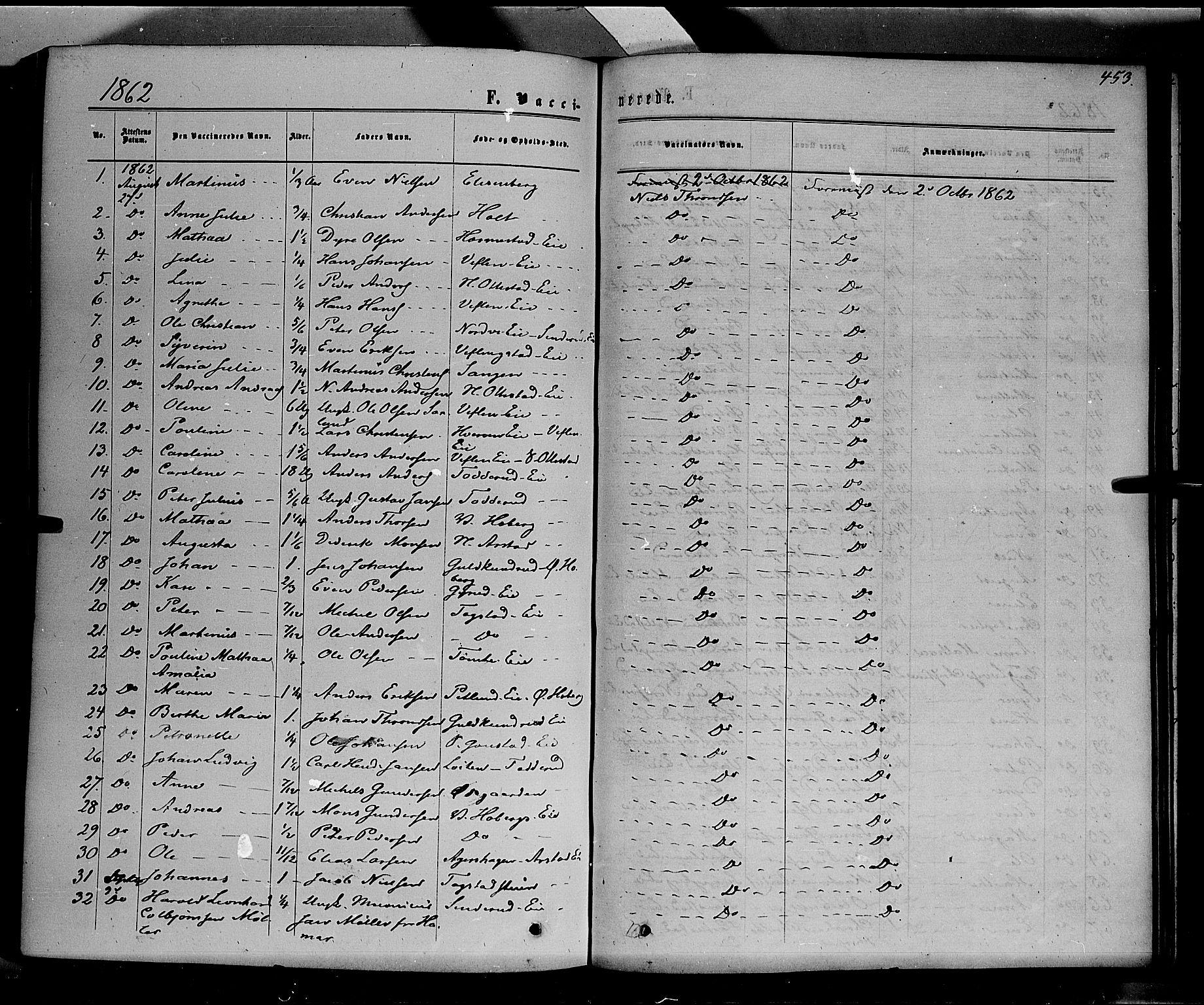 SAH, Stange prestekontor, K/L0013: Ministerialbok nr. 13, 1862-1879, s. 453