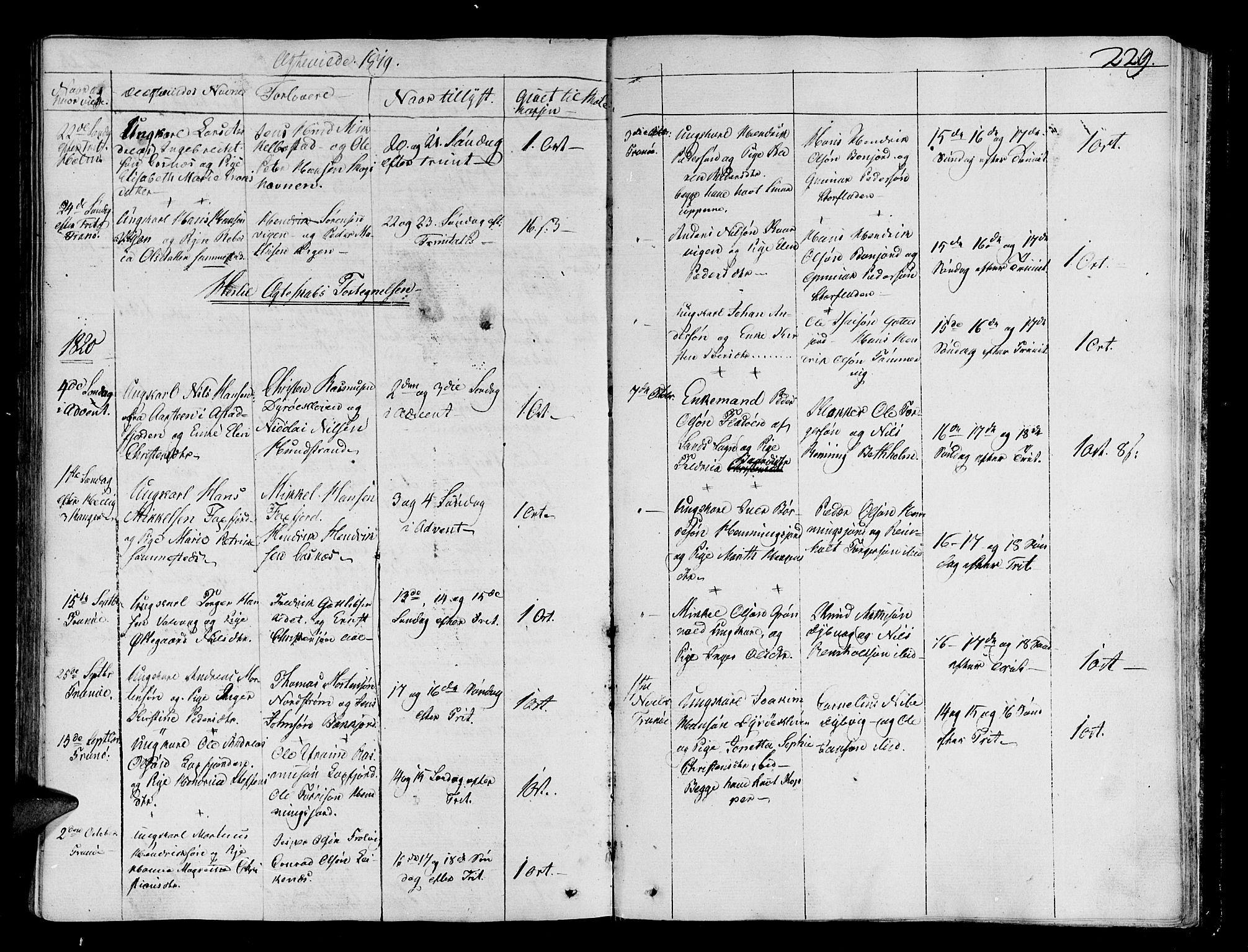 SATØ, Tranøy sokneprestkontor, I/Ia/Iaa/L0003kirke: Ministerialbok nr. 3, 1807-1820, s. 229