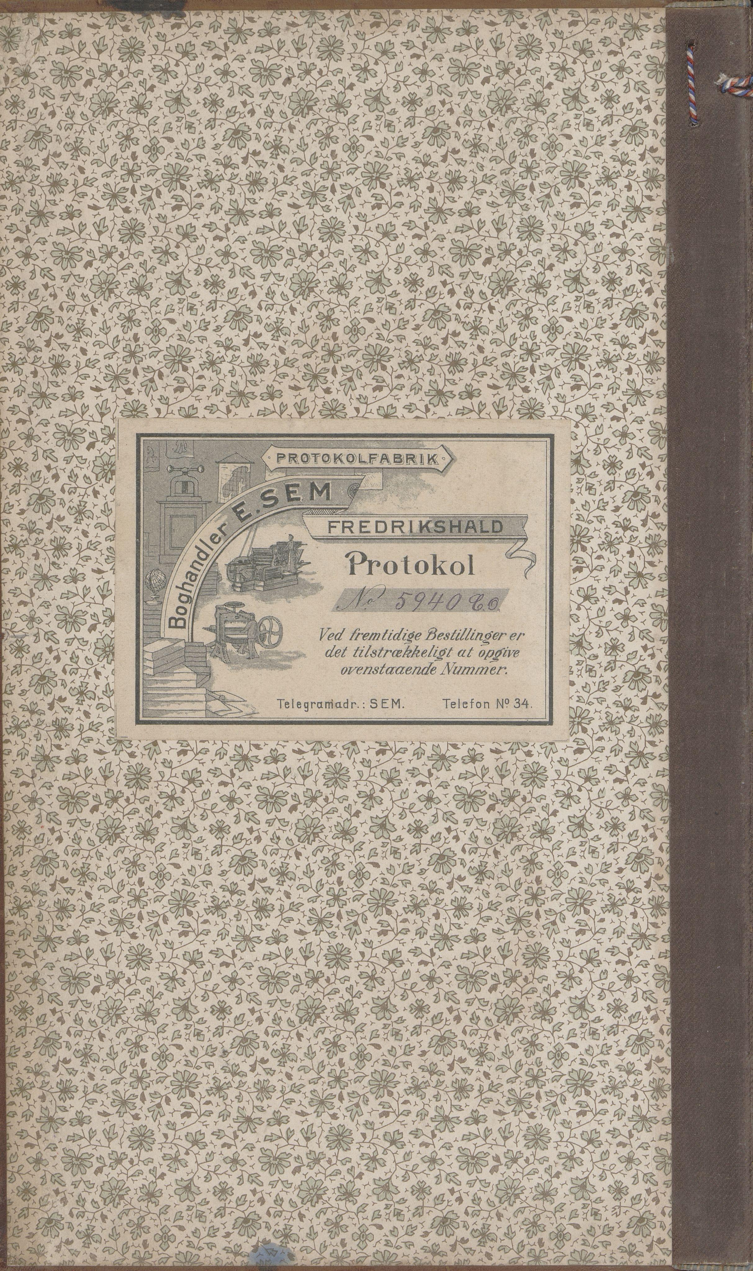 AIN, Brønnøy kommune. Formannskapet, A/Aa/L0002d: Møtebok, 1910-1916