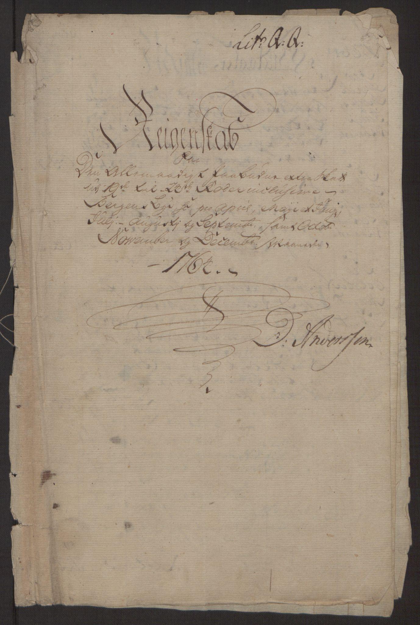 RA, Rentekammeret inntil 1814, Reviderte regnskaper, Byregnskaper, R/Rp/L0368: [P21] Kontribusjonsregnskap, 1764, s. 203