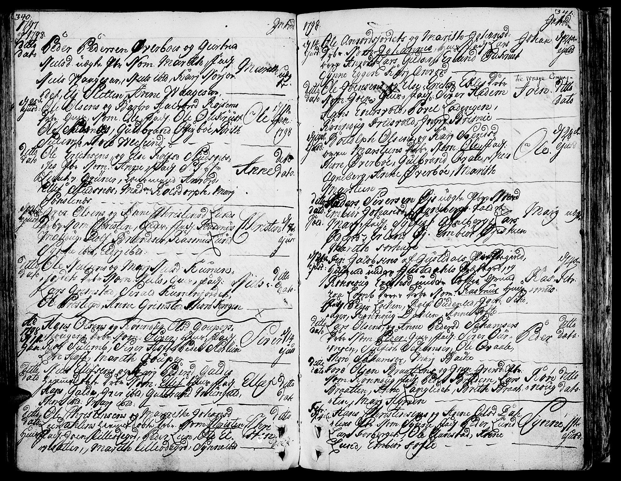 SAH, Lom prestekontor, K/L0002: Ministerialbok nr. 2, 1749-1801, s. 340-341