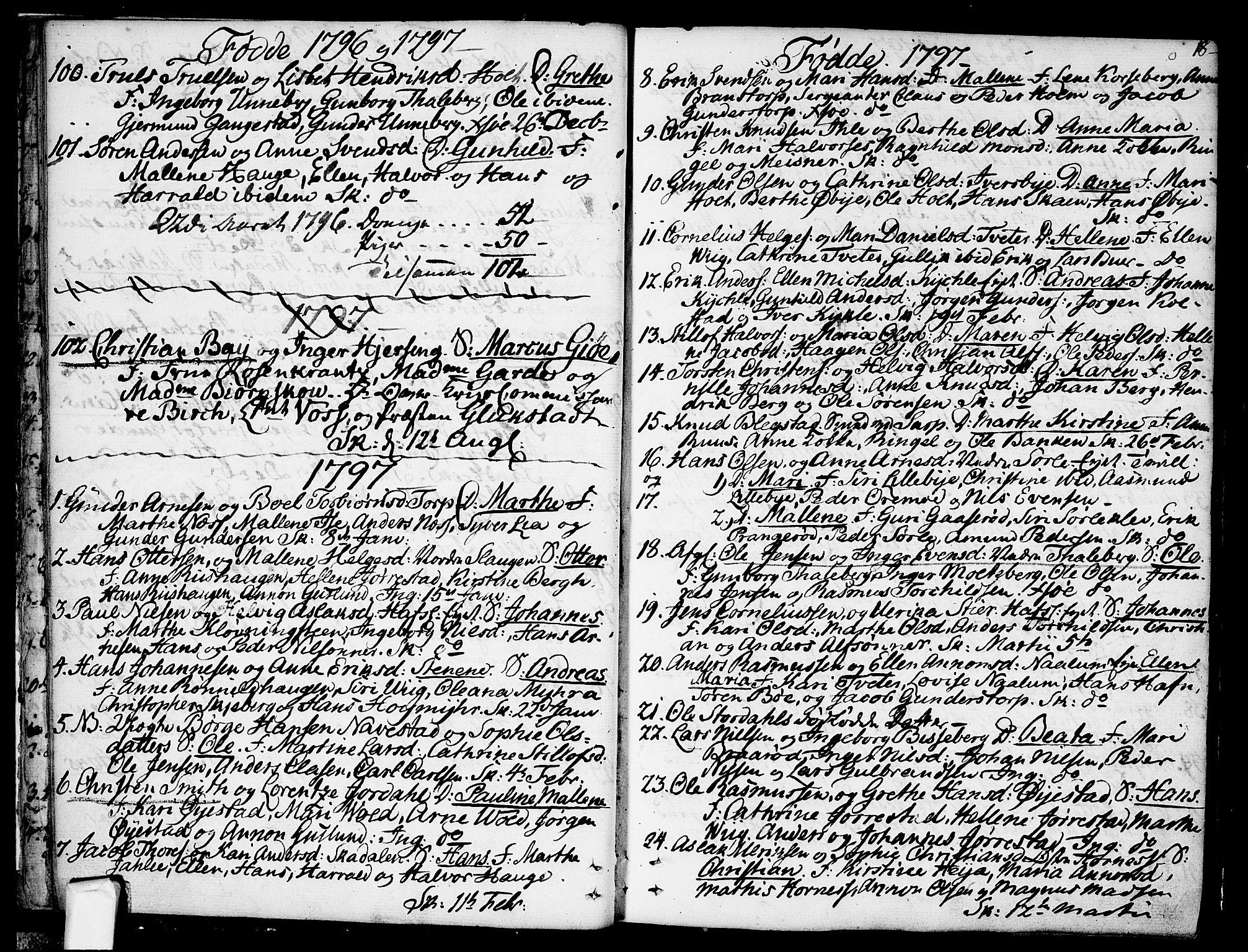 SAO, Skjeberg prestekontor Kirkebøker, F/Fa/L0003: Ministerialbok nr. I 3, 1792-1814, s. 18