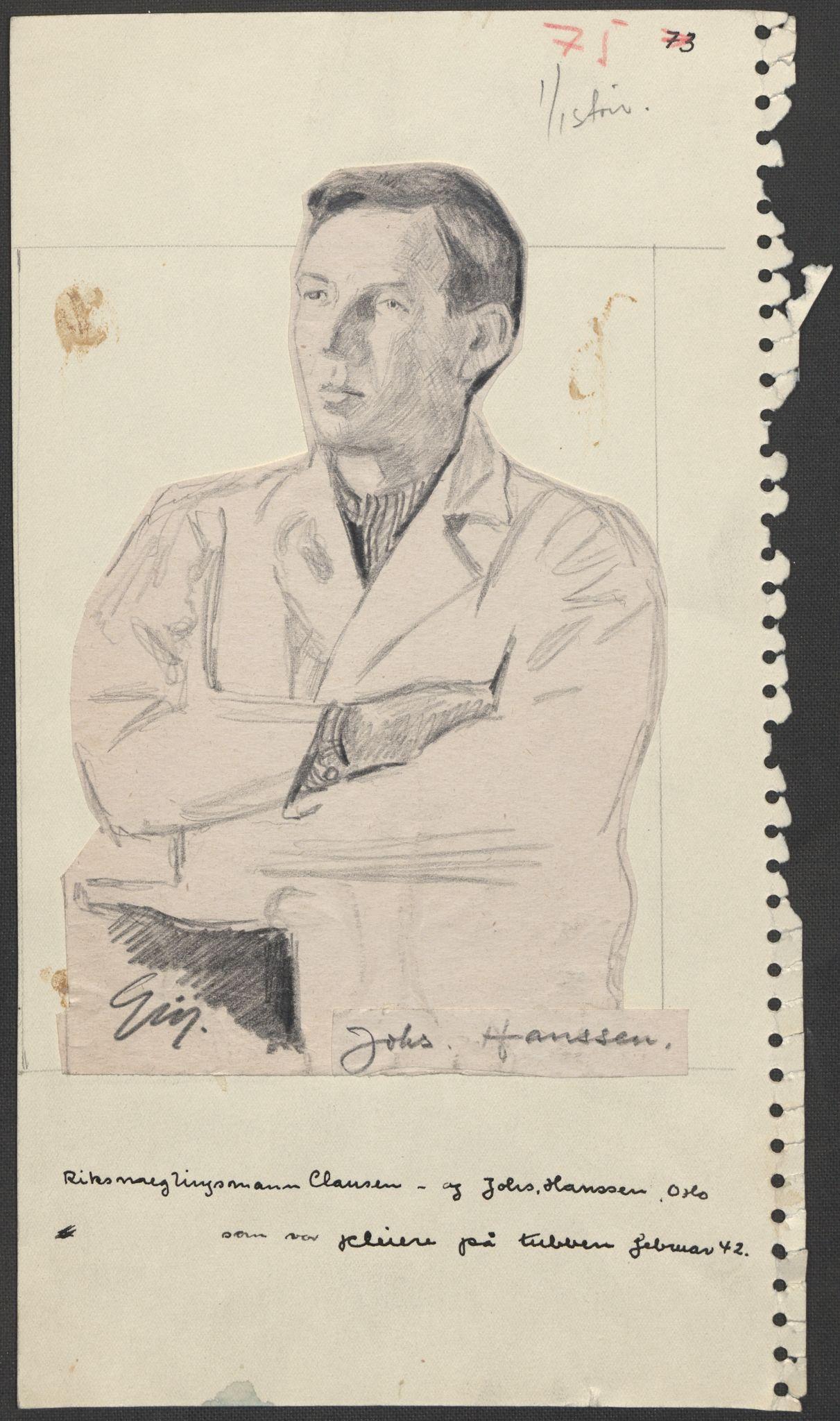 RA, Grøgaard, Joachim, F/L0002: Tegninger og tekster, 1942-1945, s. 66