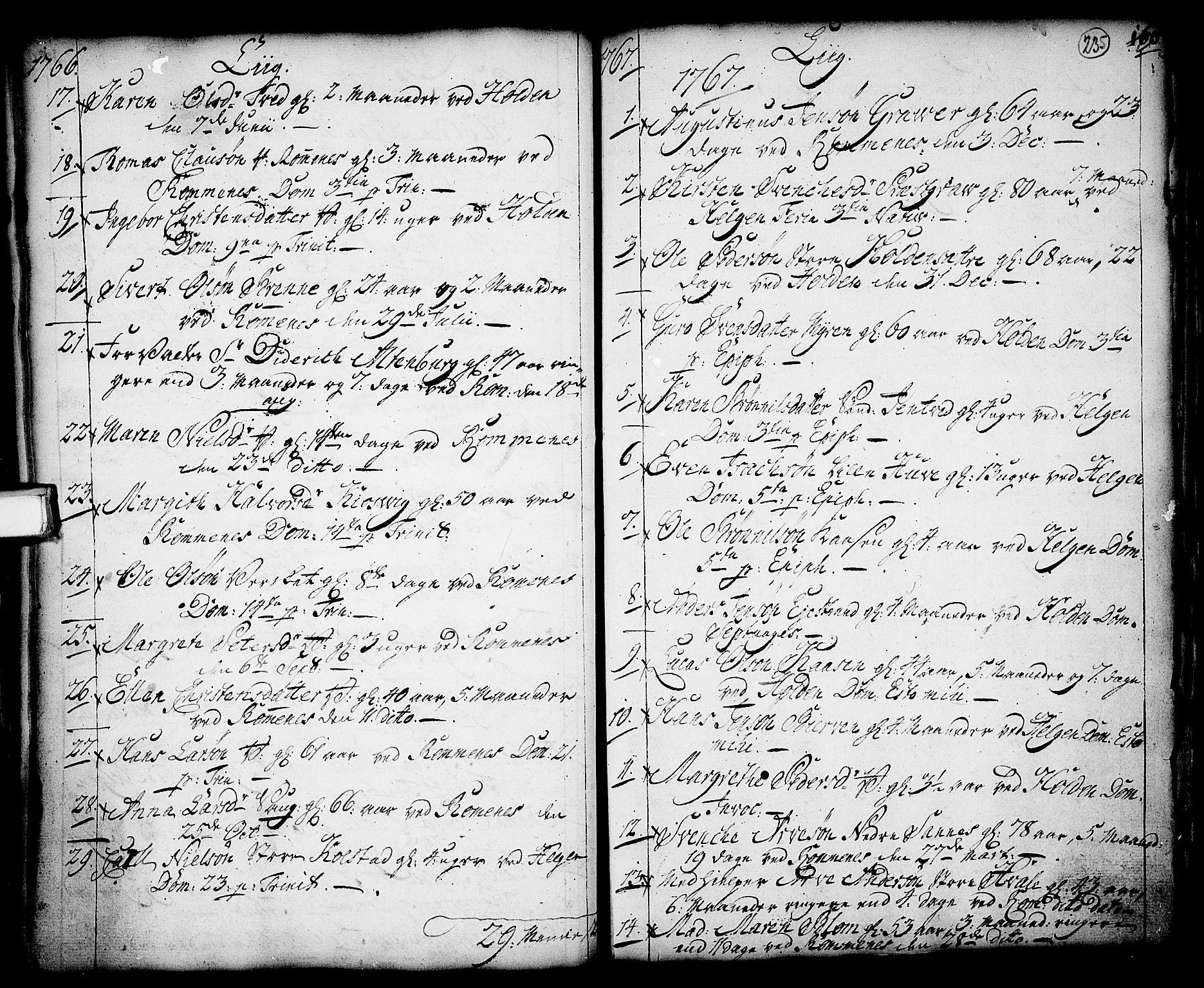 SAKO, Holla kirkebøker, F/Fa/L0001: Ministerialbok nr. 1, 1717-1779, s. 235