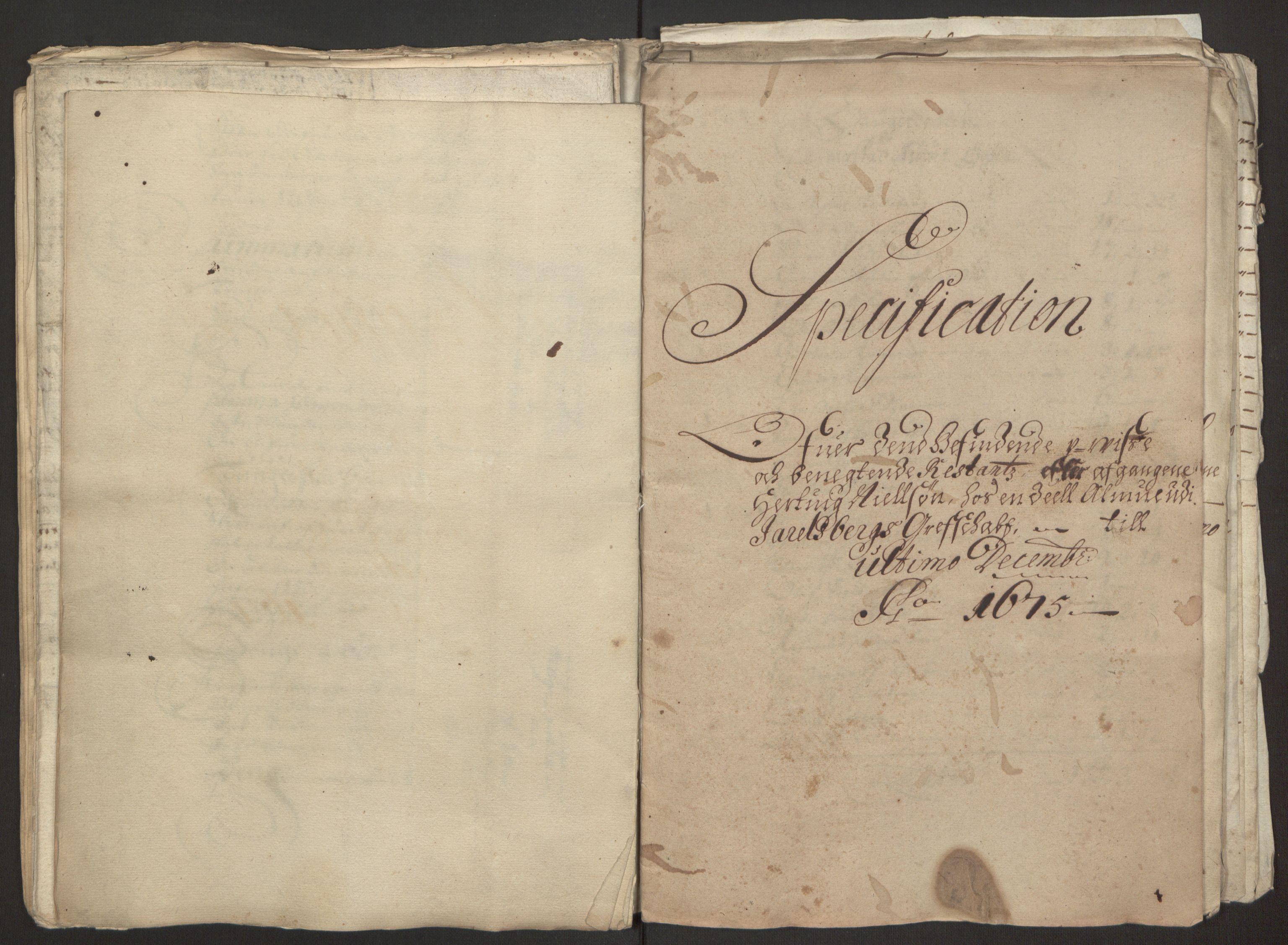 RA, Rentekammeret inntil 1814, Reviderte regnskaper, Fogderegnskap, R32/L1843: Fogderegnskap Jarlsberg grevskap, 1674-1675, s. 45