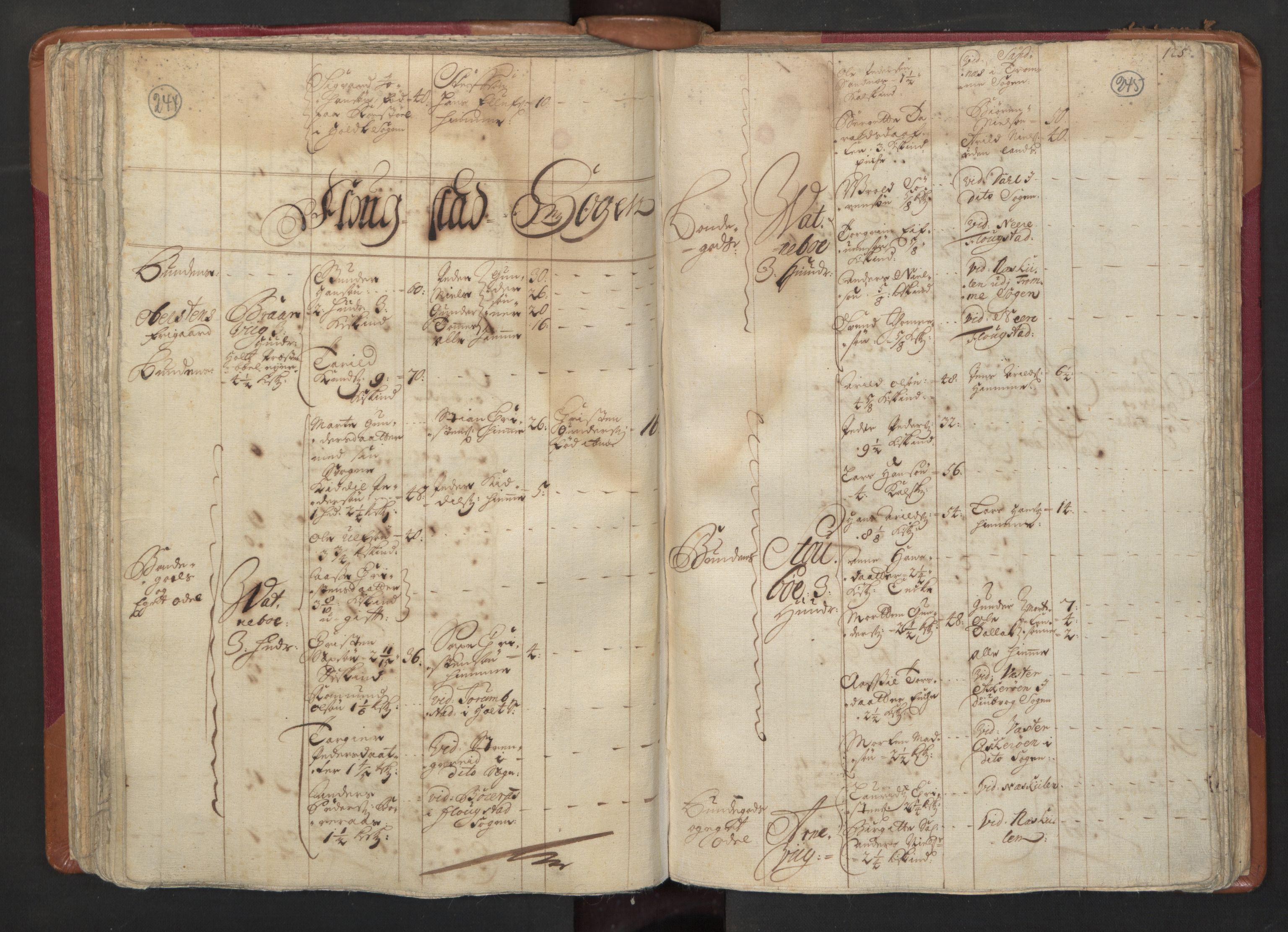 RA, Manntallet 1701, nr. 3: Nedenes fogderi, 1701, s. 244-245