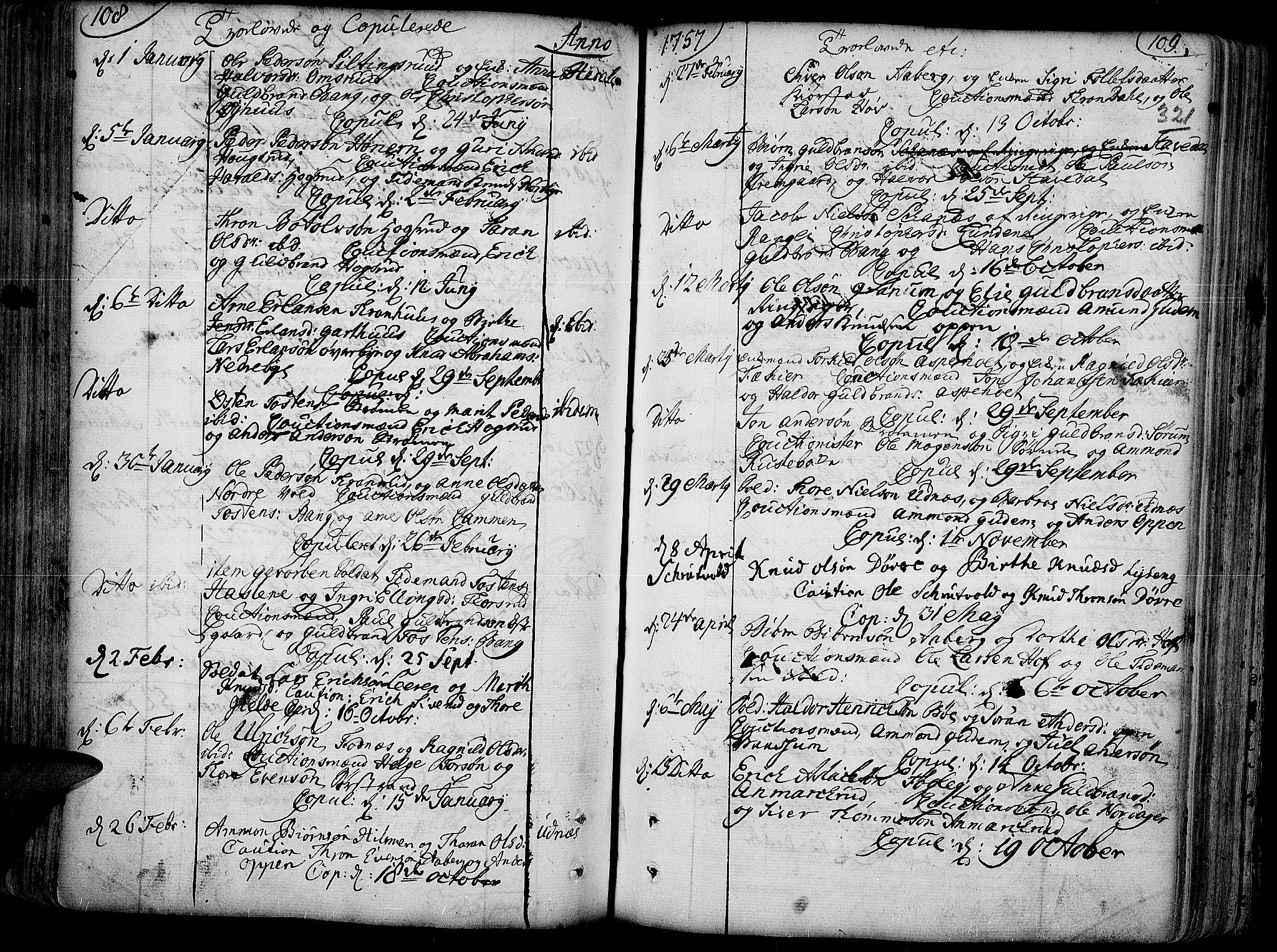 SAH, Aurdal prestekontor, Ministerialbok nr. 4, 1730-1762, s. 108-109