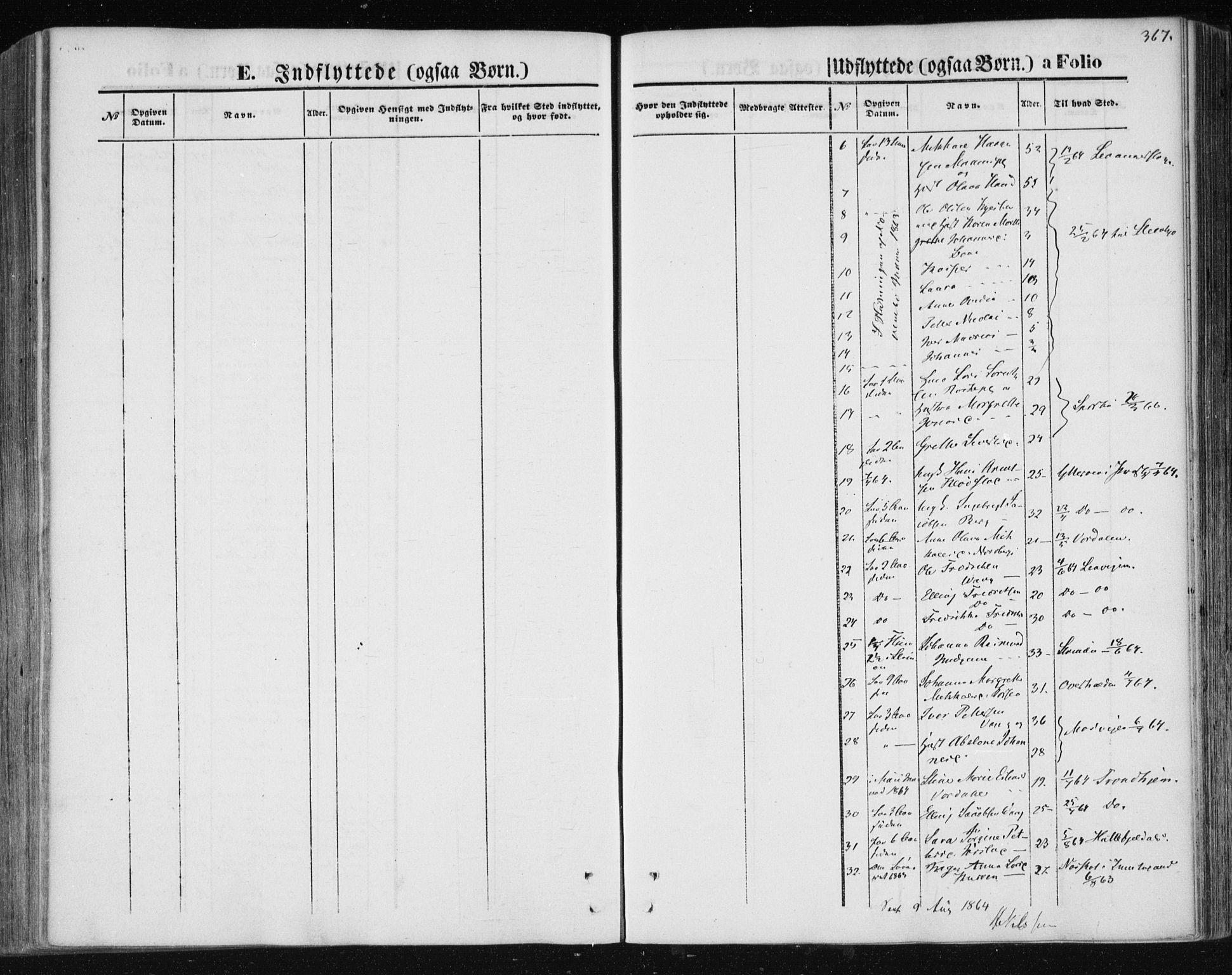 SAT, Ministerialprotokoller, klokkerbøker og fødselsregistre - Nord-Trøndelag, 730/L0283: Ministerialbok nr. 730A08, 1855-1865, s. 367