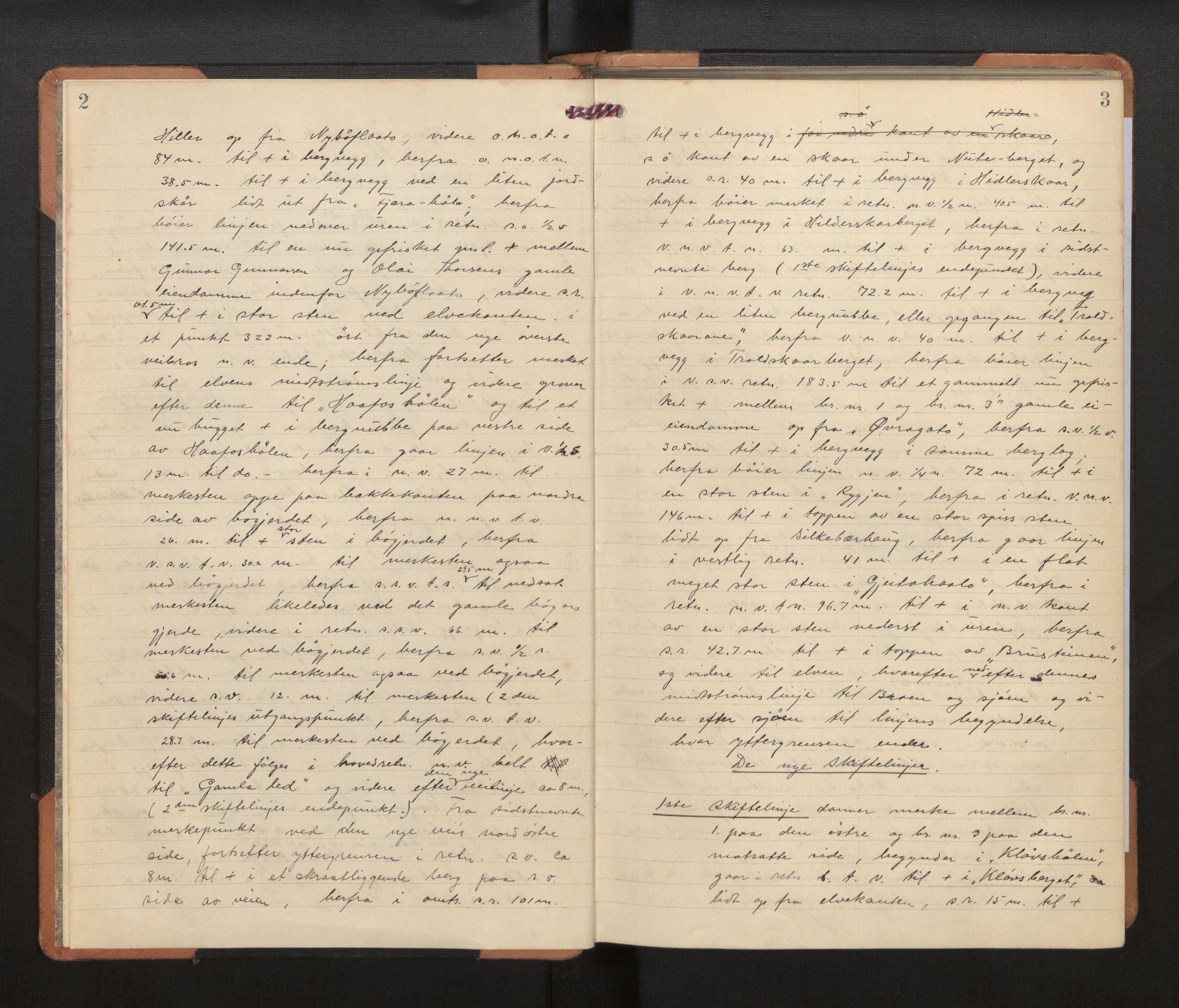 SAB, Hordaland jordskiftedøme - VII Indre Sunnhordland jordskiftedistrikt, A/Aa/L0014: Forhandlingsprotokoll, 1929-1932, s. 2-3