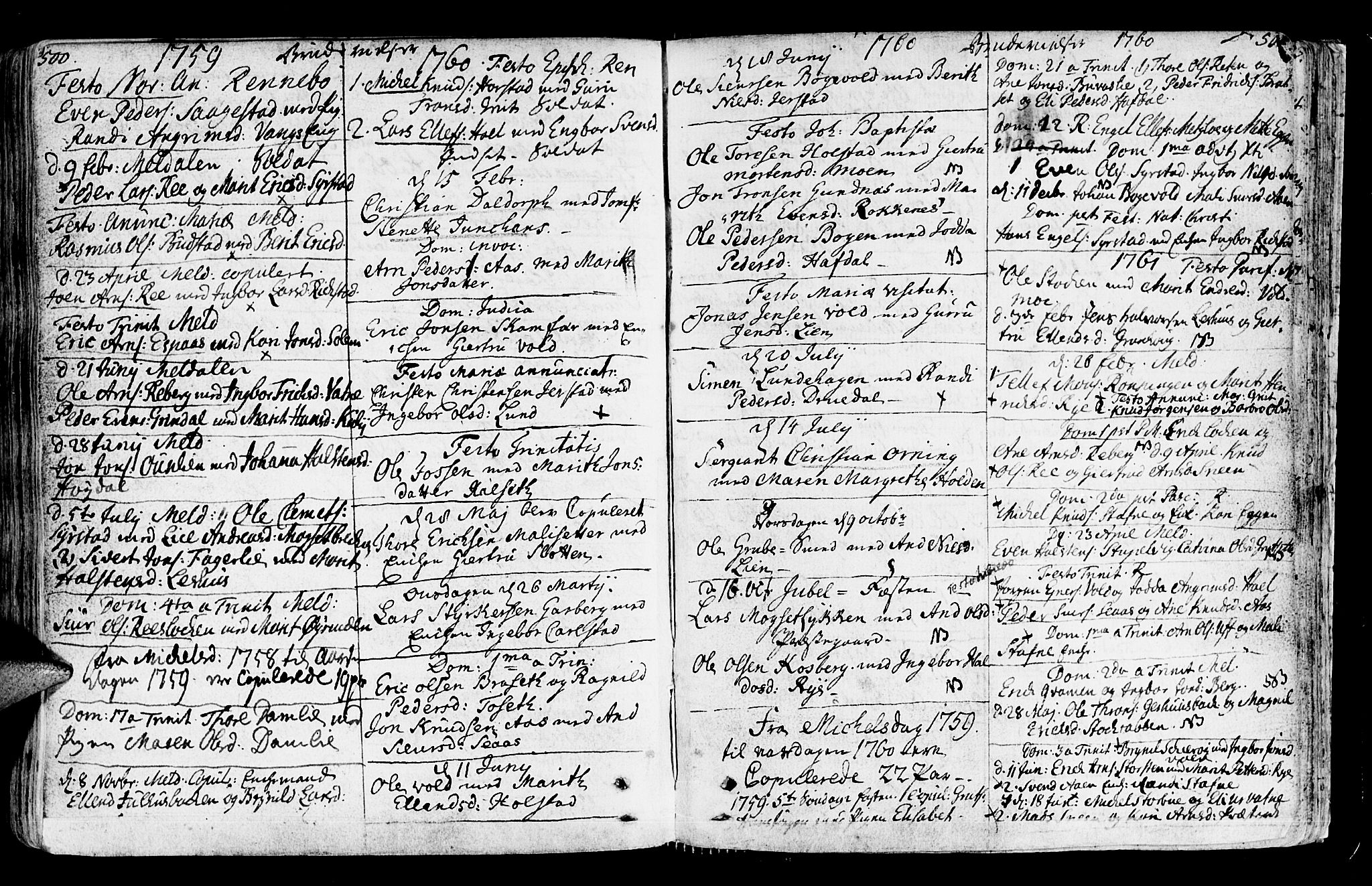 SAT, Ministerialprotokoller, klokkerbøker og fødselsregistre - Sør-Trøndelag, 672/L0851: Ministerialbok nr. 672A04, 1751-1775, s. 500-501