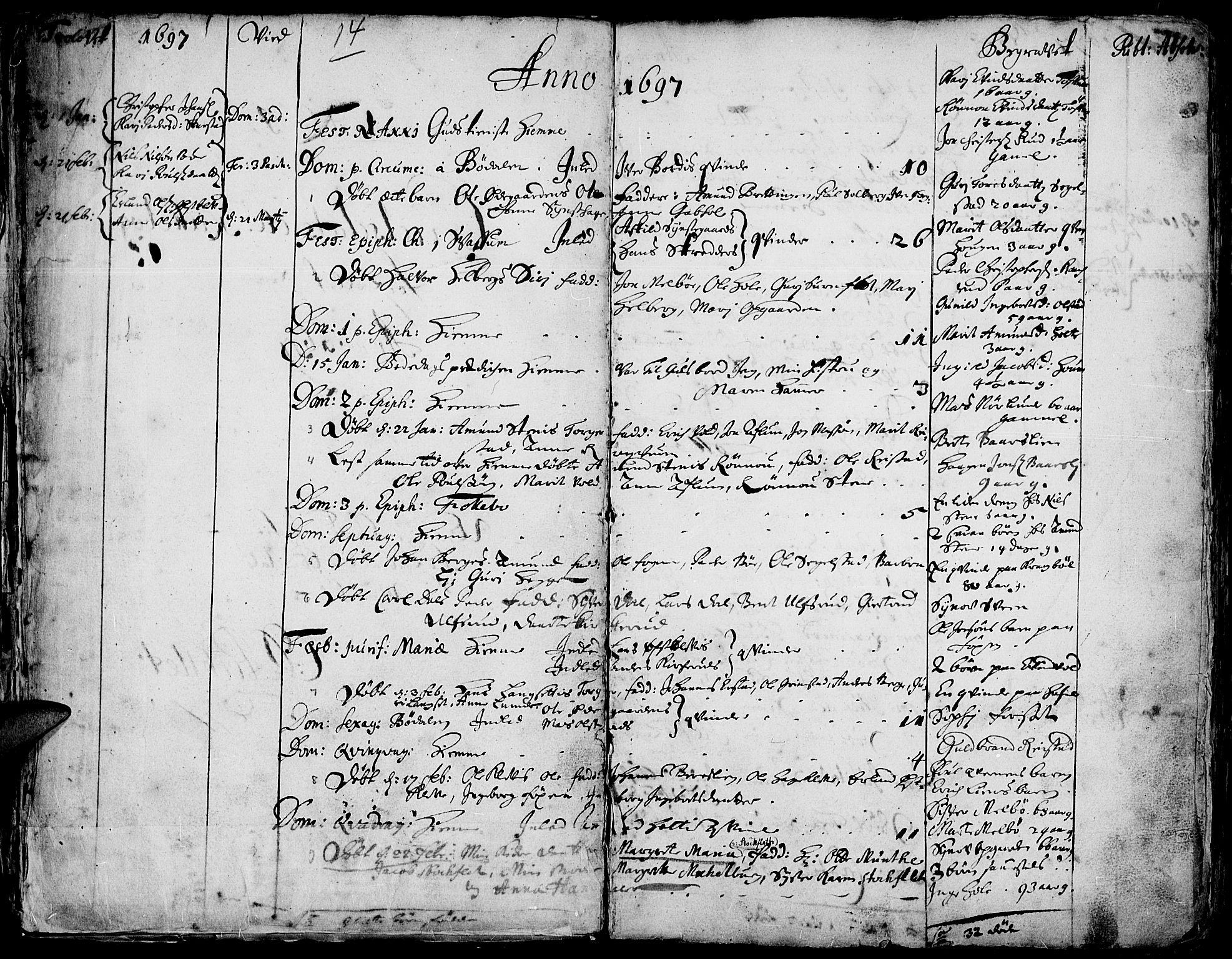 SAH, Gausdal prestekontor, Ministerialbok nr. 1, 1693-1728, s. 14