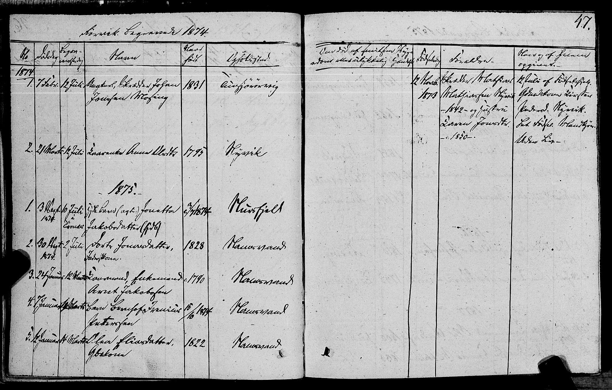 SAT, Ministerialprotokoller, klokkerbøker og fødselsregistre - Nord-Trøndelag, 762/L0538: Ministerialbok nr. 762A02 /1, 1833-1879, s. 47