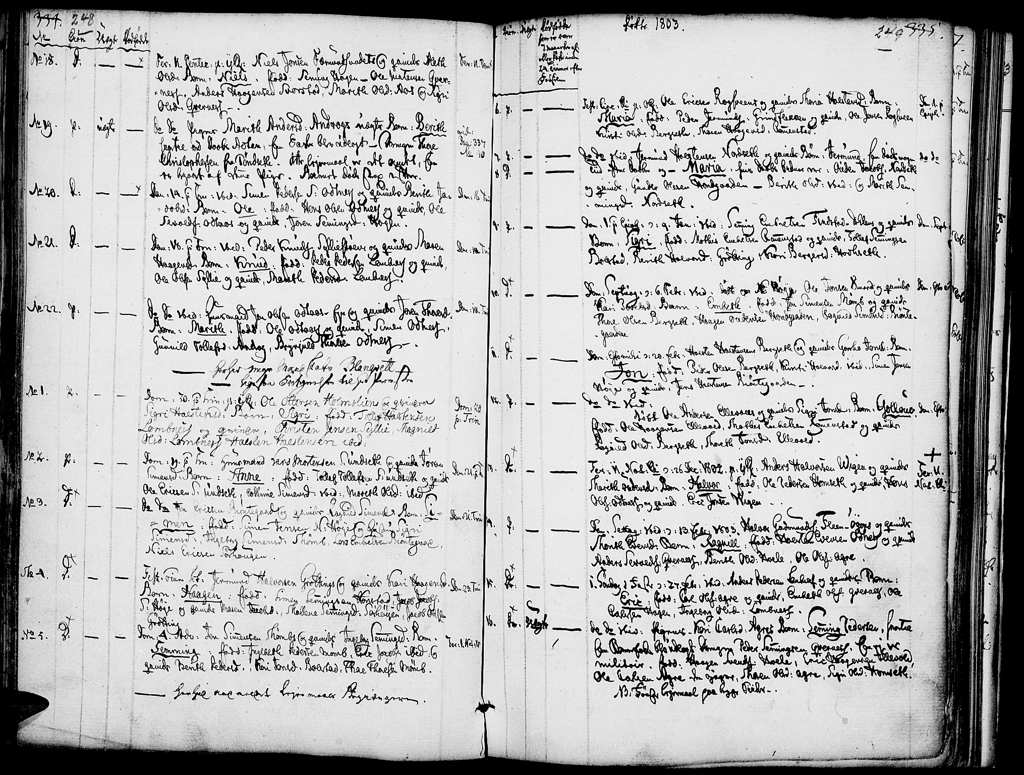 SAH, Rendalen prestekontor, H/Ha/Haa/L0002: Ministerialbok nr. 2, 1788-1814, s. 248-249