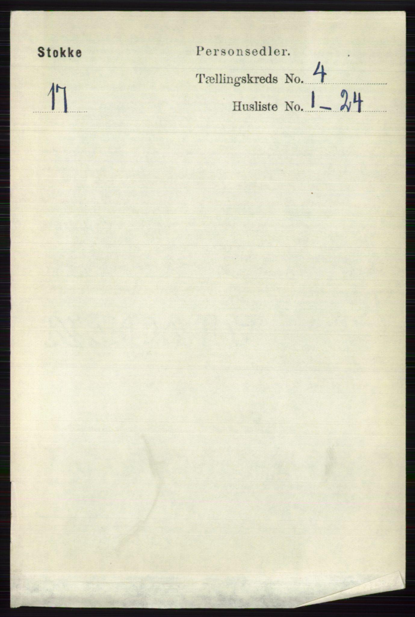 RA, Folketelling 1891 for 0720 Stokke herred, 1891, s. 2441