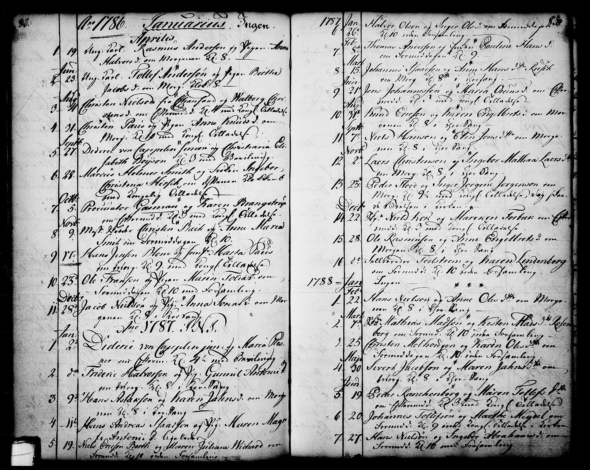 SAKO, Skien kirkebøker, F/Fa/L0003: Ministerialbok nr. 3, 1755-1791, s. 82-83