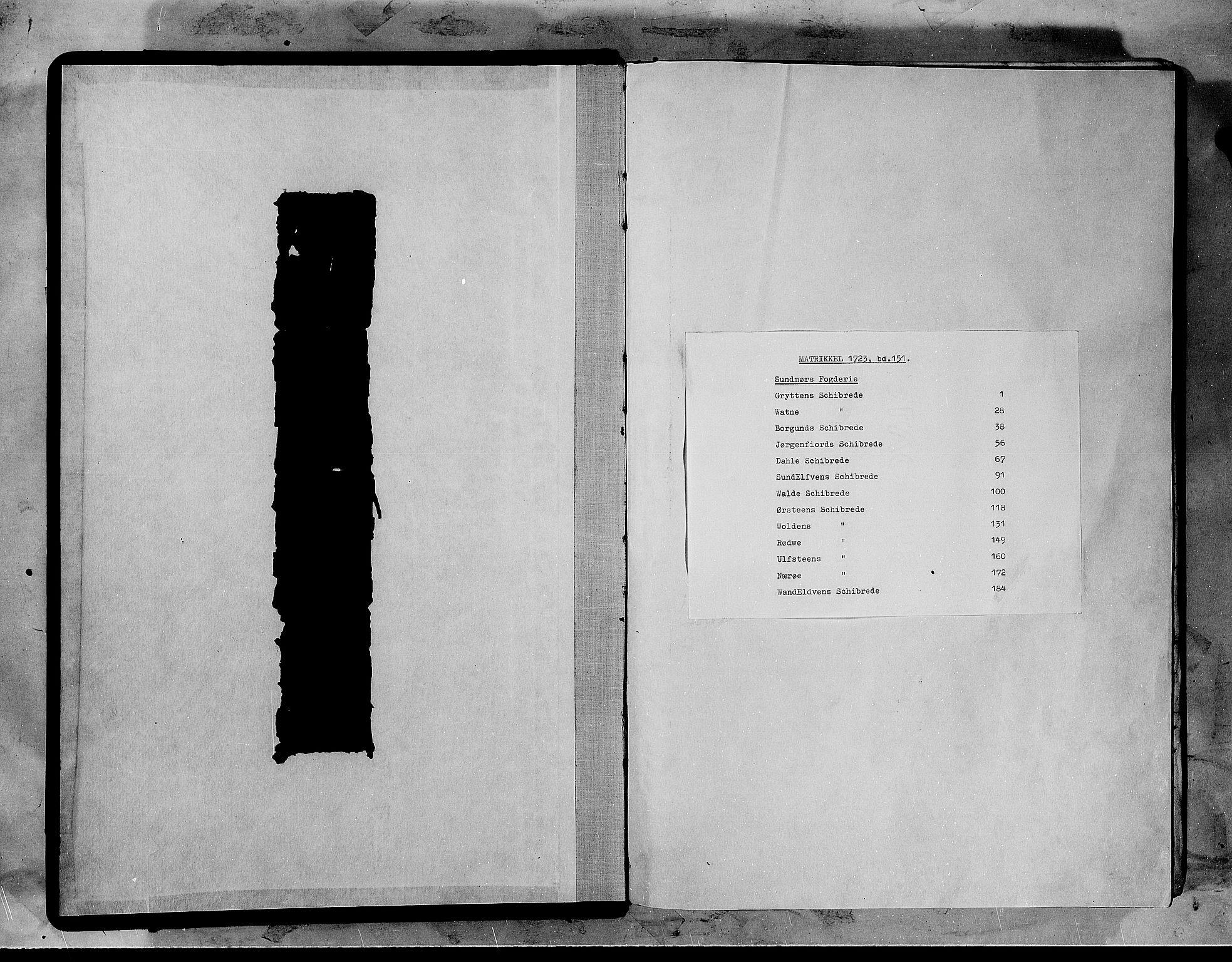 RA, Rentekammeret inntil 1814, Realistisk ordnet avdeling, N/Nb/Nbf/L0151: Sunnmøre matrikkelprotokoll, 1724, s. upaginert