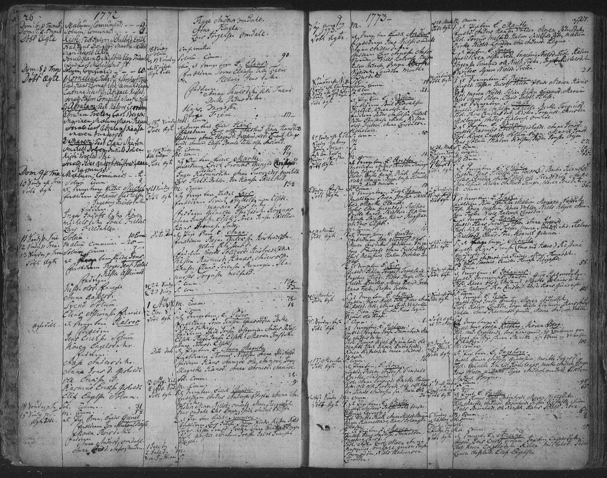 SAKO, Solum kirkebøker, F/Fa/L0003: Ministerialbok nr. I 3, 1761-1814, s. 26-27
