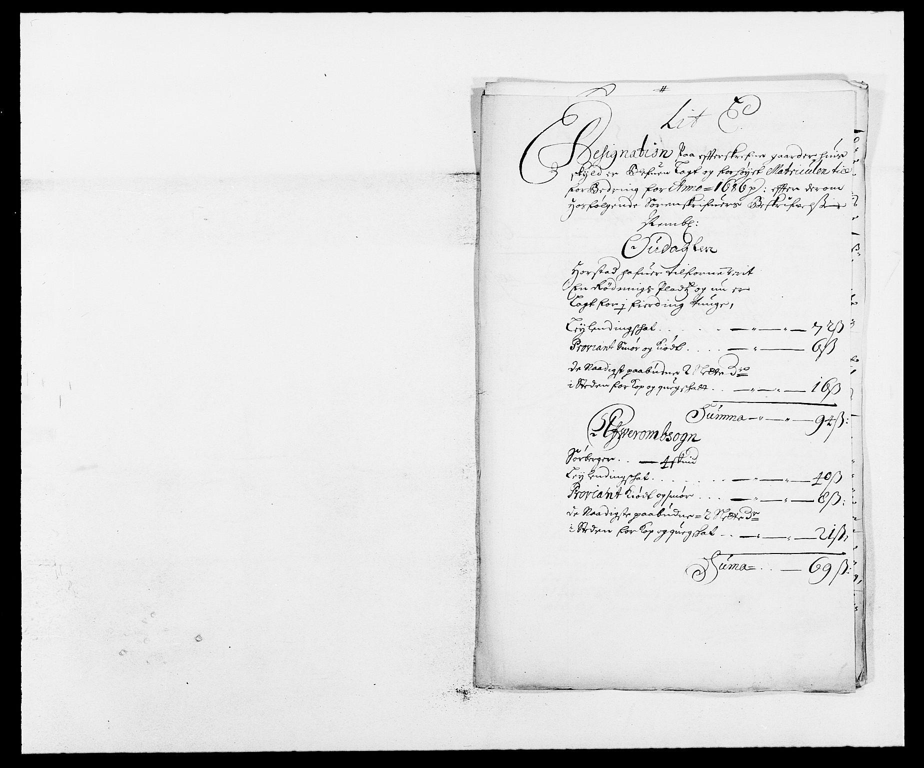RA, Rentekammeret inntil 1814, Reviderte regnskaper, Fogderegnskap, R13/L0823: Fogderegnskap Solør, Odal og Østerdal, 1686, s. 197