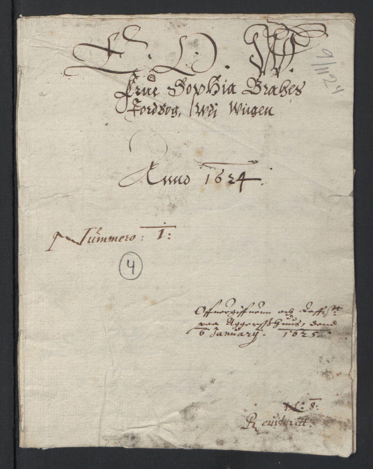 RA, Stattholderembetet 1572-1771, Ek/L0007: Jordebøker til utlikning av rosstjeneste 1624-1626:, 1624-1625, s. 41