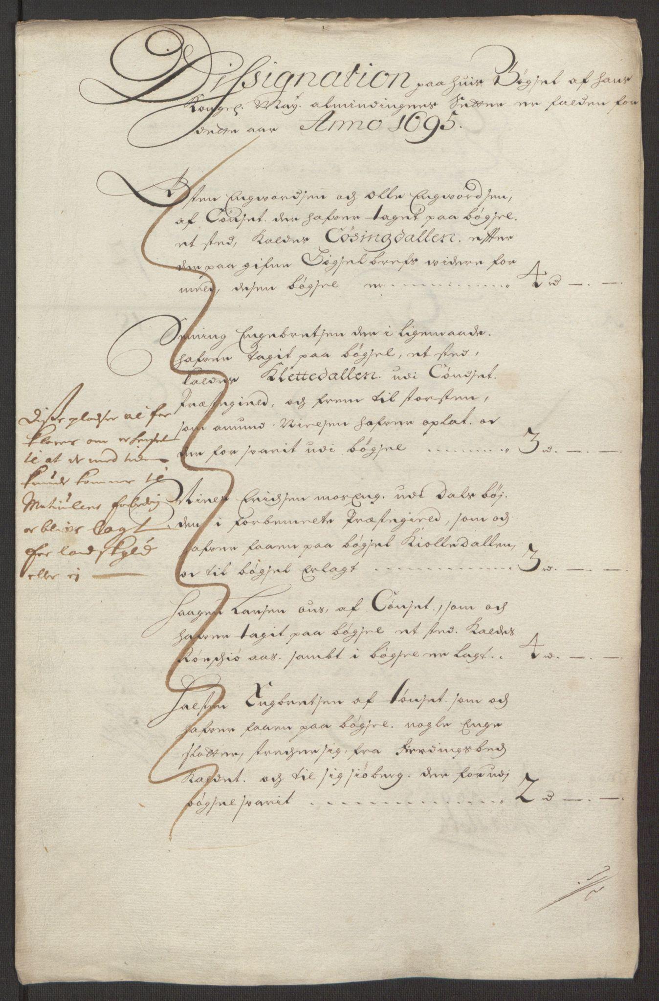 RA, Rentekammeret inntil 1814, Reviderte regnskaper, Fogderegnskap, R13/L0833: Fogderegnskap Solør, Odal og Østerdal, 1695, s. 179