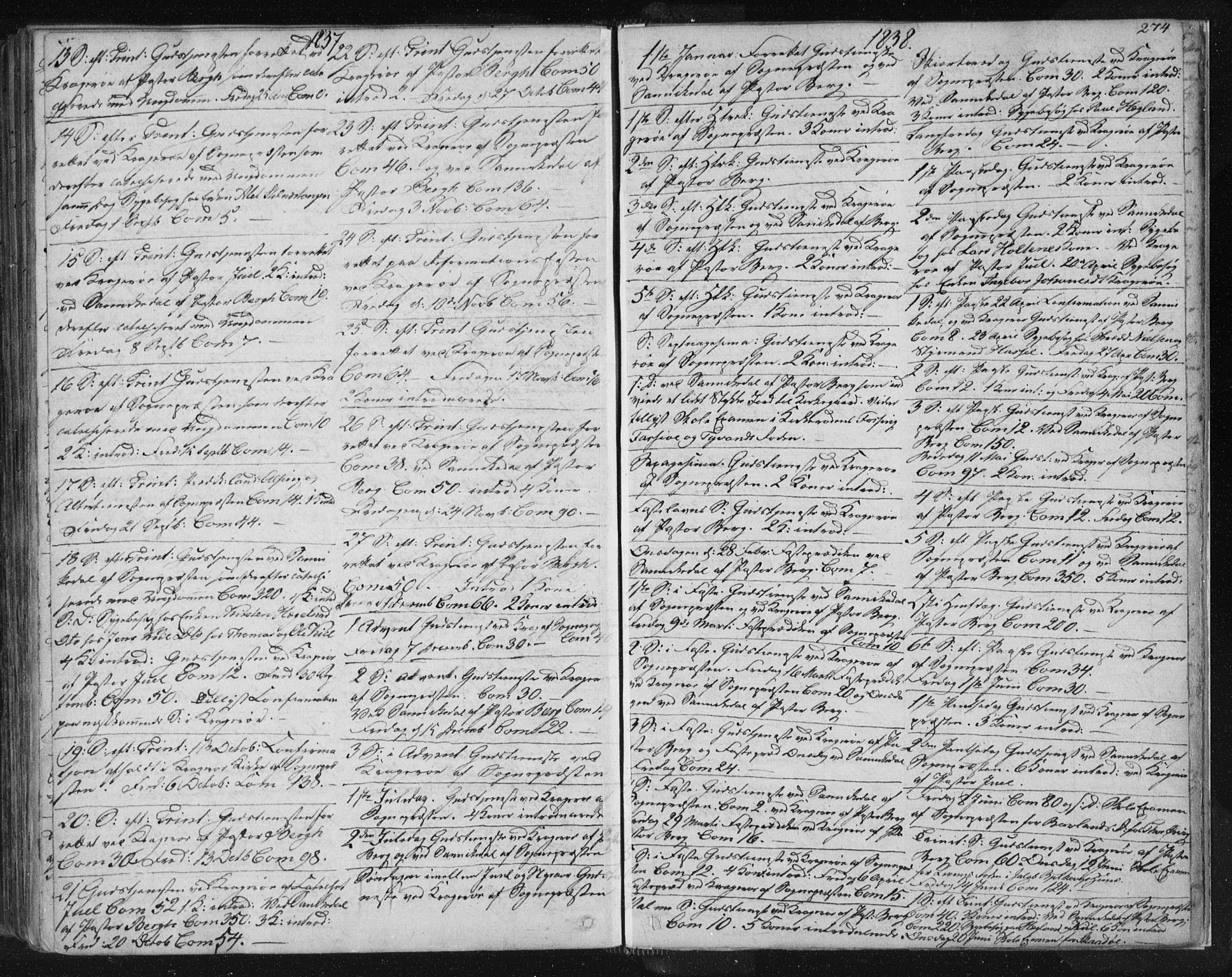 SAKO, Kragerø kirkebøker, F/Fa/L0005: Ministerialbok nr. 5, 1832-1847, s. 274