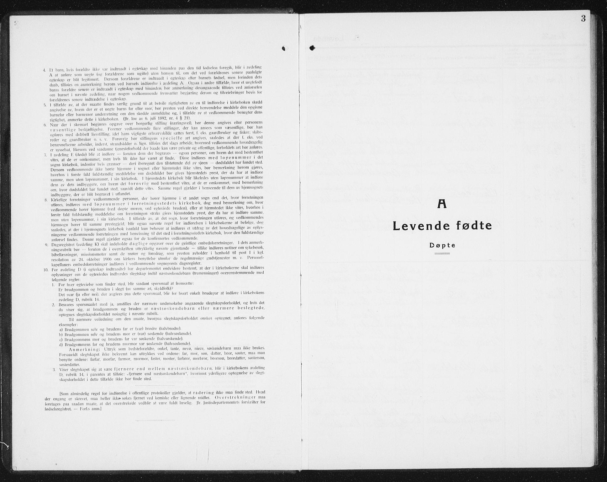 SAT, Ministerialprotokoller, klokkerbøker og fødselsregistre - Sør-Trøndelag, 654/L0667: Klokkerbok nr. 654C03, 1924-1939, s. 3