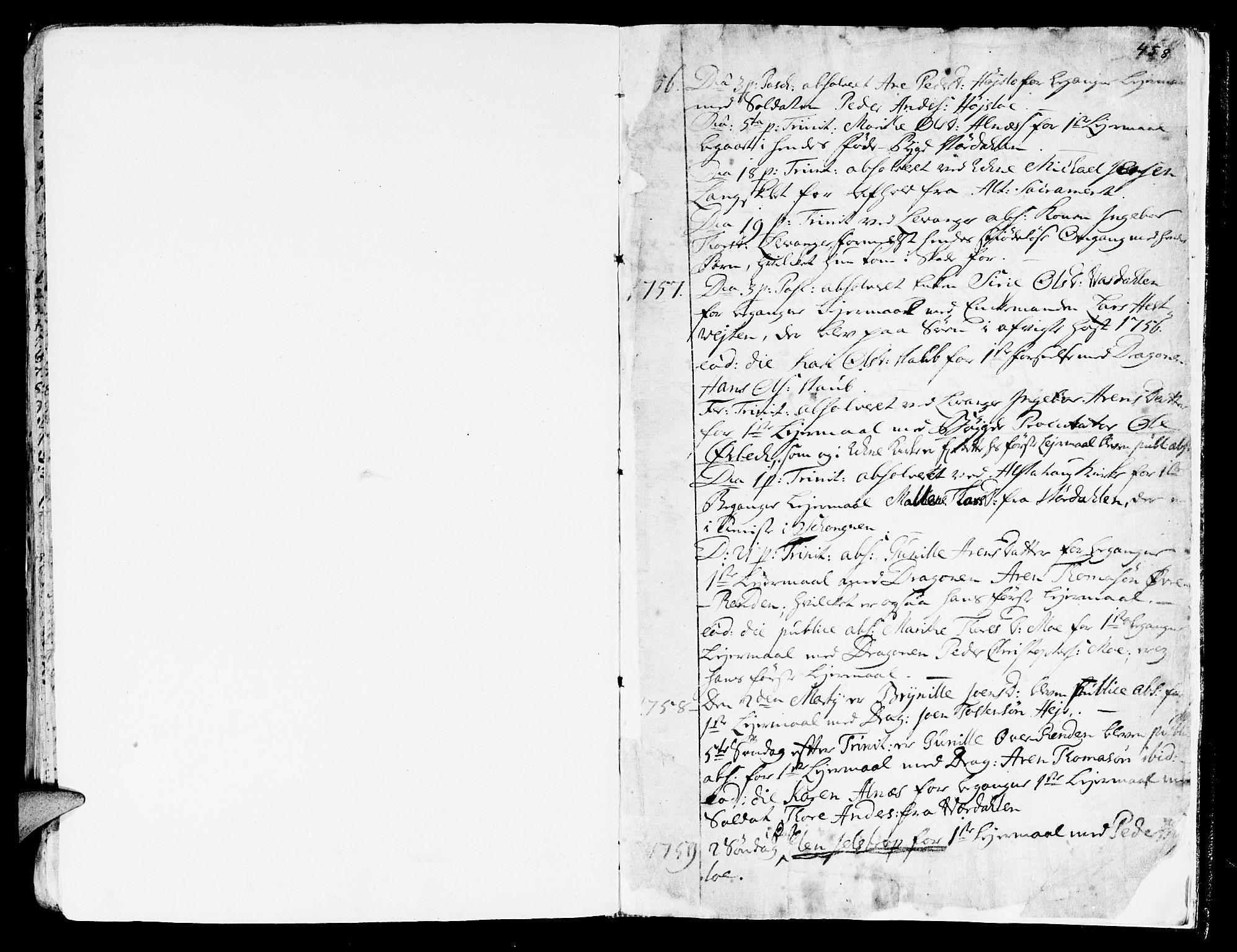 SAT, Ministerialprotokoller, klokkerbøker og fødselsregistre - Nord-Trøndelag, 717/L0141: Ministerialbok nr. 717A01, 1747-1803, s. 457-458