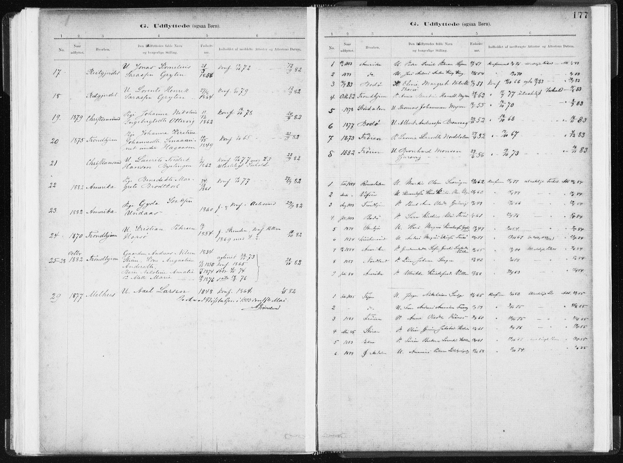 SAT, Ministerialprotokoller, klokkerbøker og fødselsregistre - Sør-Trøndelag, 634/L0533: Ministerialbok nr. 634A09, 1882-1901, s. 177