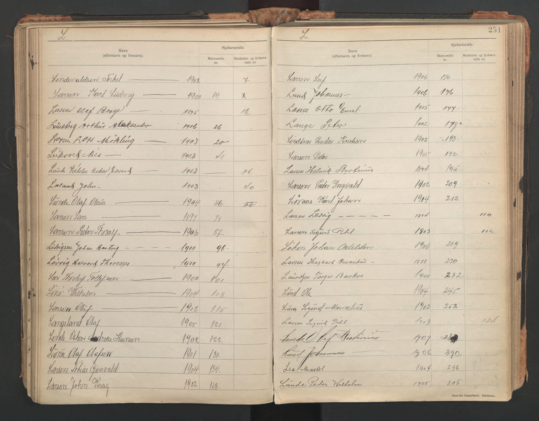 SAST, Stavanger sjømannskontor, F/Fb/Fba/L0005: Navneregister sjøfartsruller, etternavnsregister til hovedrulle 1921, 1921-1947, s. 69